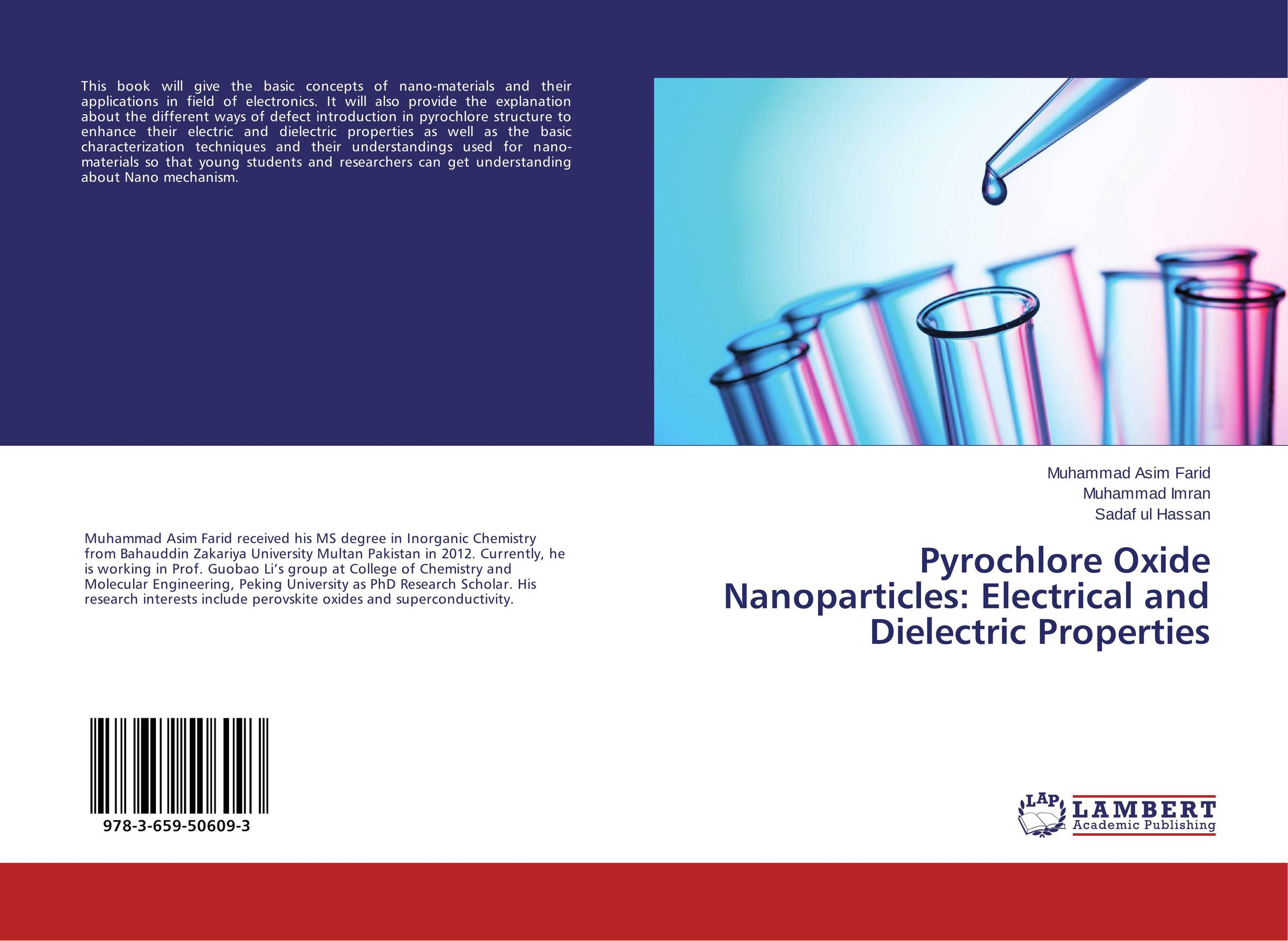 Pyrochlore Oxide Nanoparticles: Electrical and Dielectric Properties juan martinez vega dielectric materials for electrical engineering