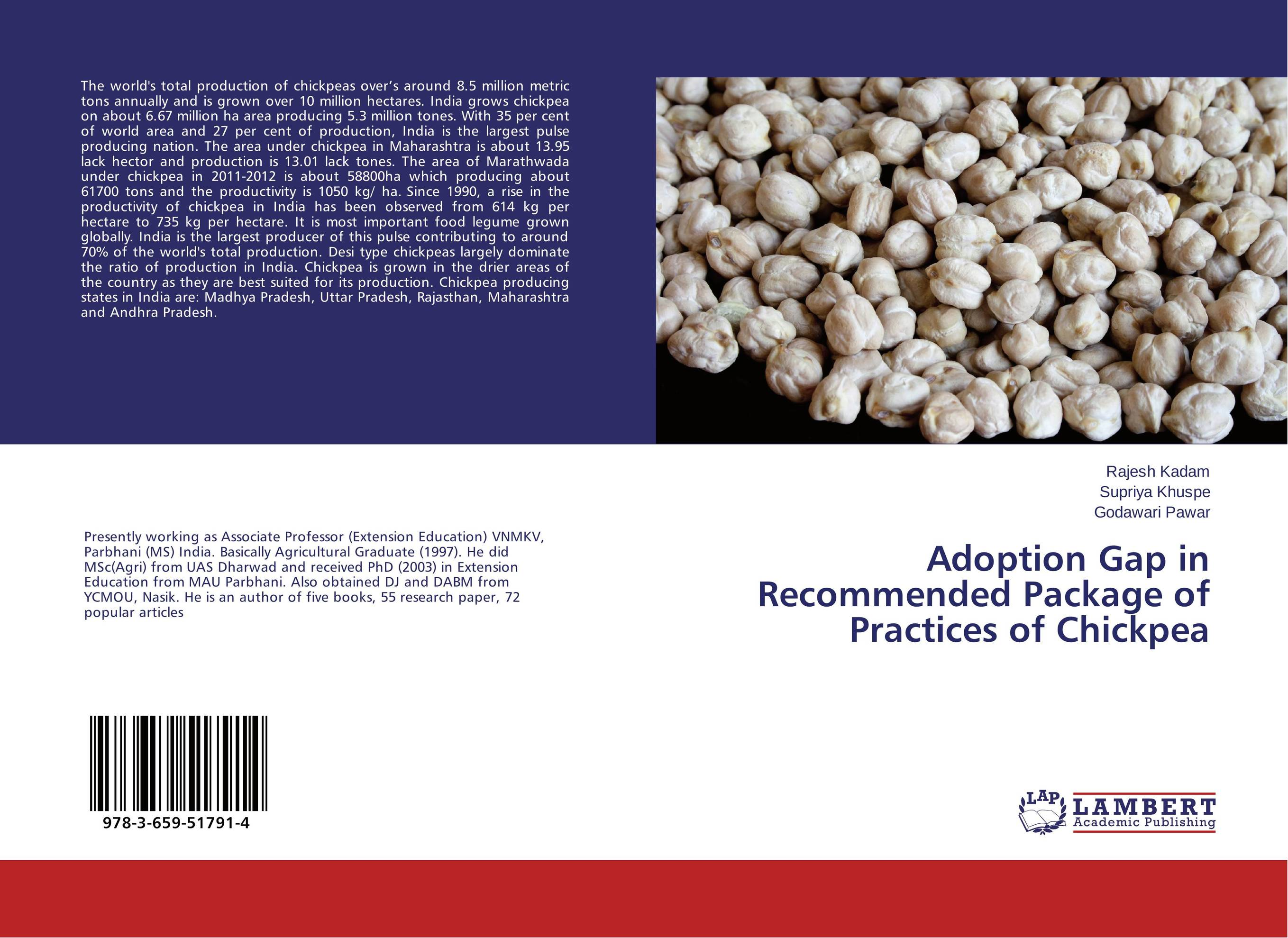 Adoption Gap in Recommended Package of Practices of Chickpea rakesh kumar production potential of summer mungbean cultivars in india