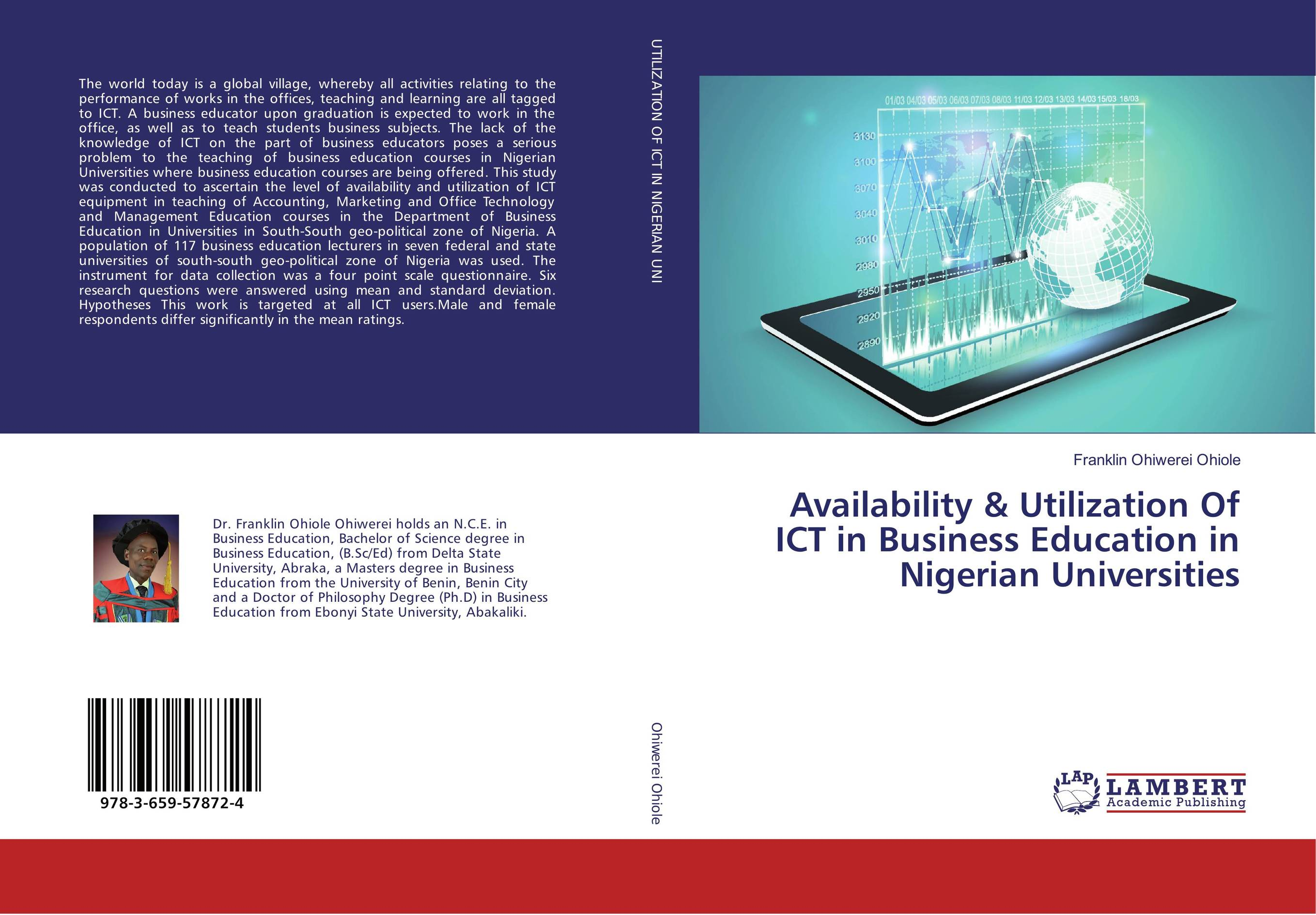 Availability & Utilization Of ICT in Business Education in Nigerian Universities system of education in nigeria