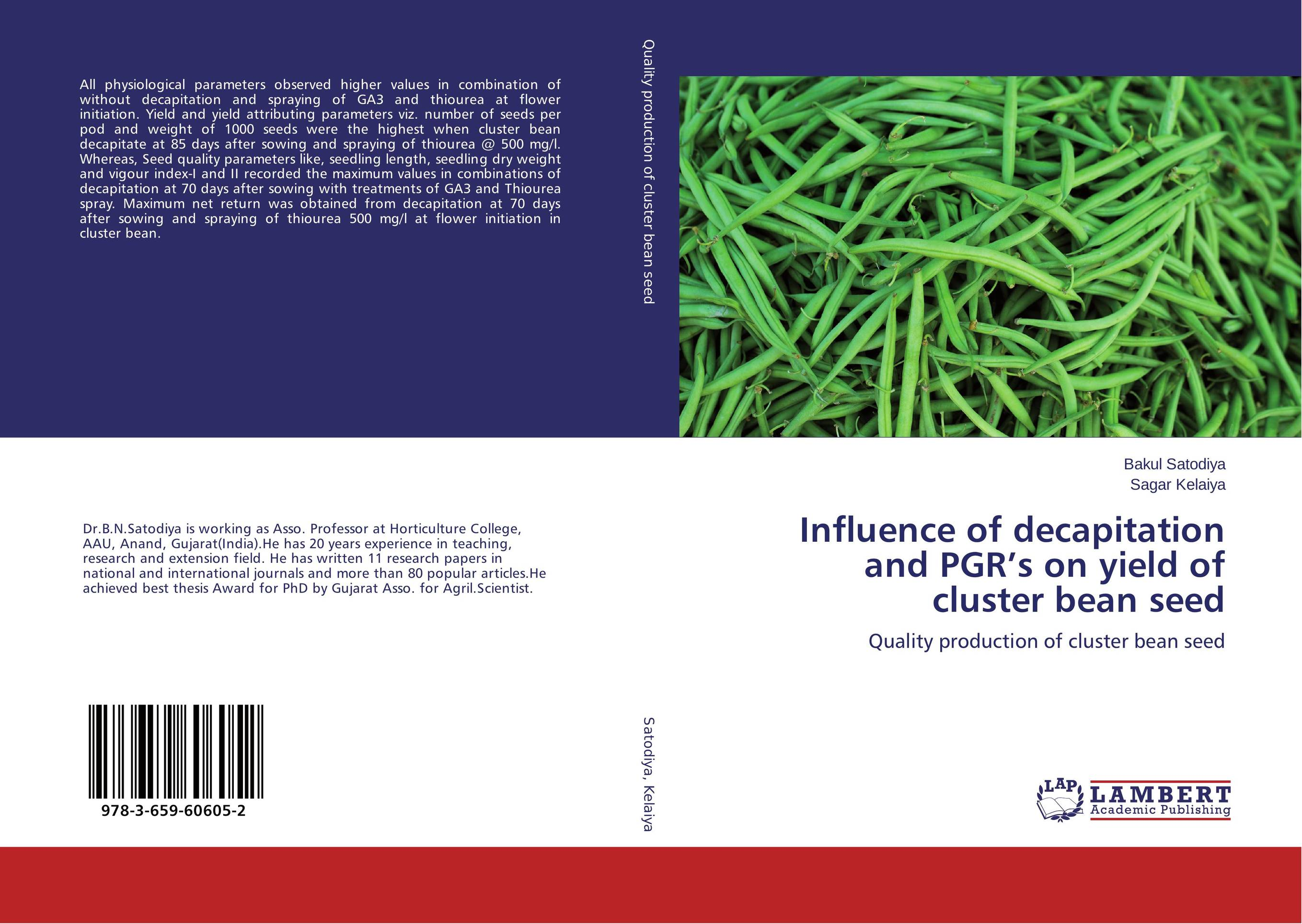 Influence of decapitation and PGR's on yield of cluster bean seed demdeo durge physical fitness and physiological parameters of sport persons