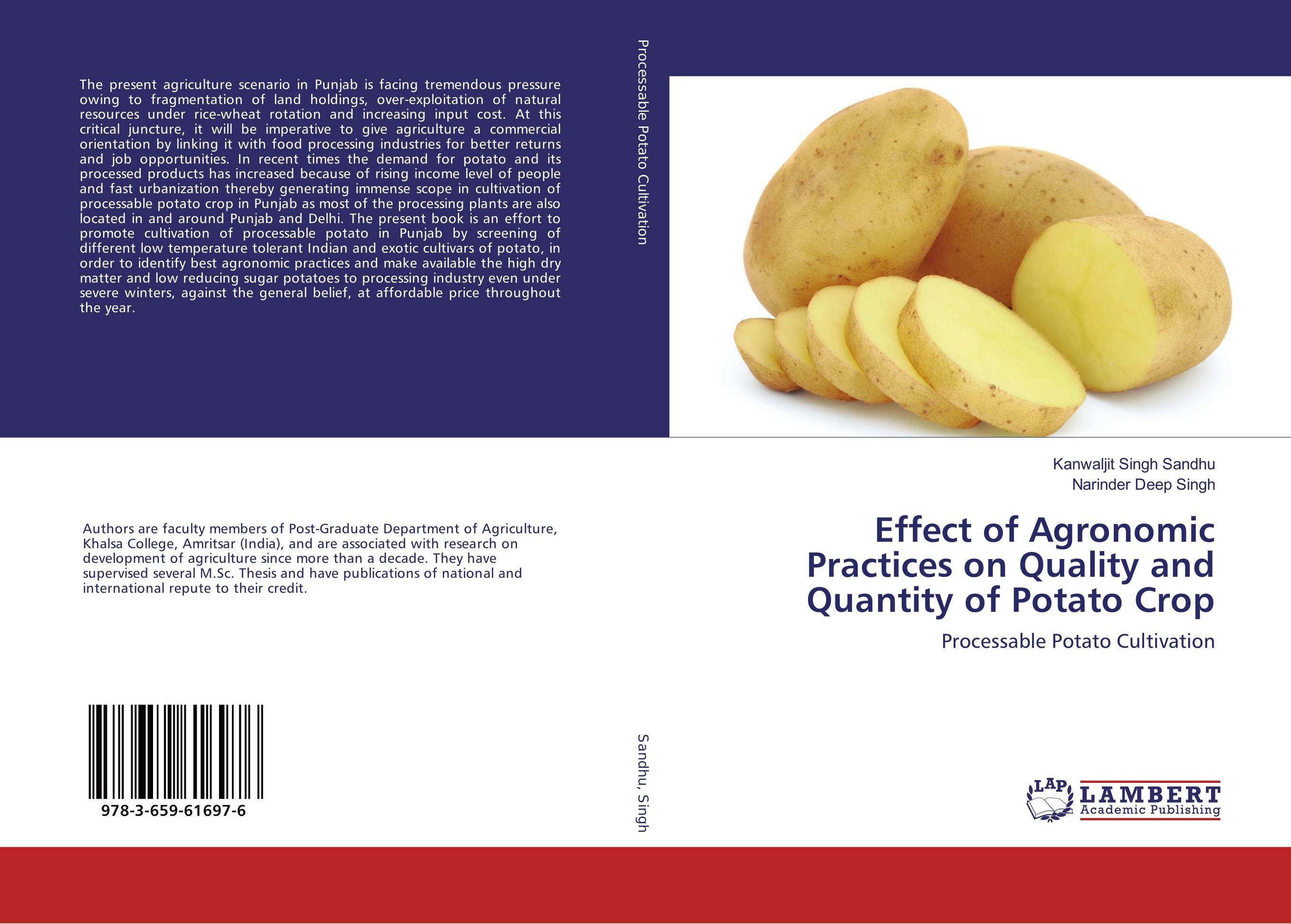 Effect of Agronomic Practices on Quality and Quantity of Potato Crop effect of methods of composting on quality of compost from wheat straw