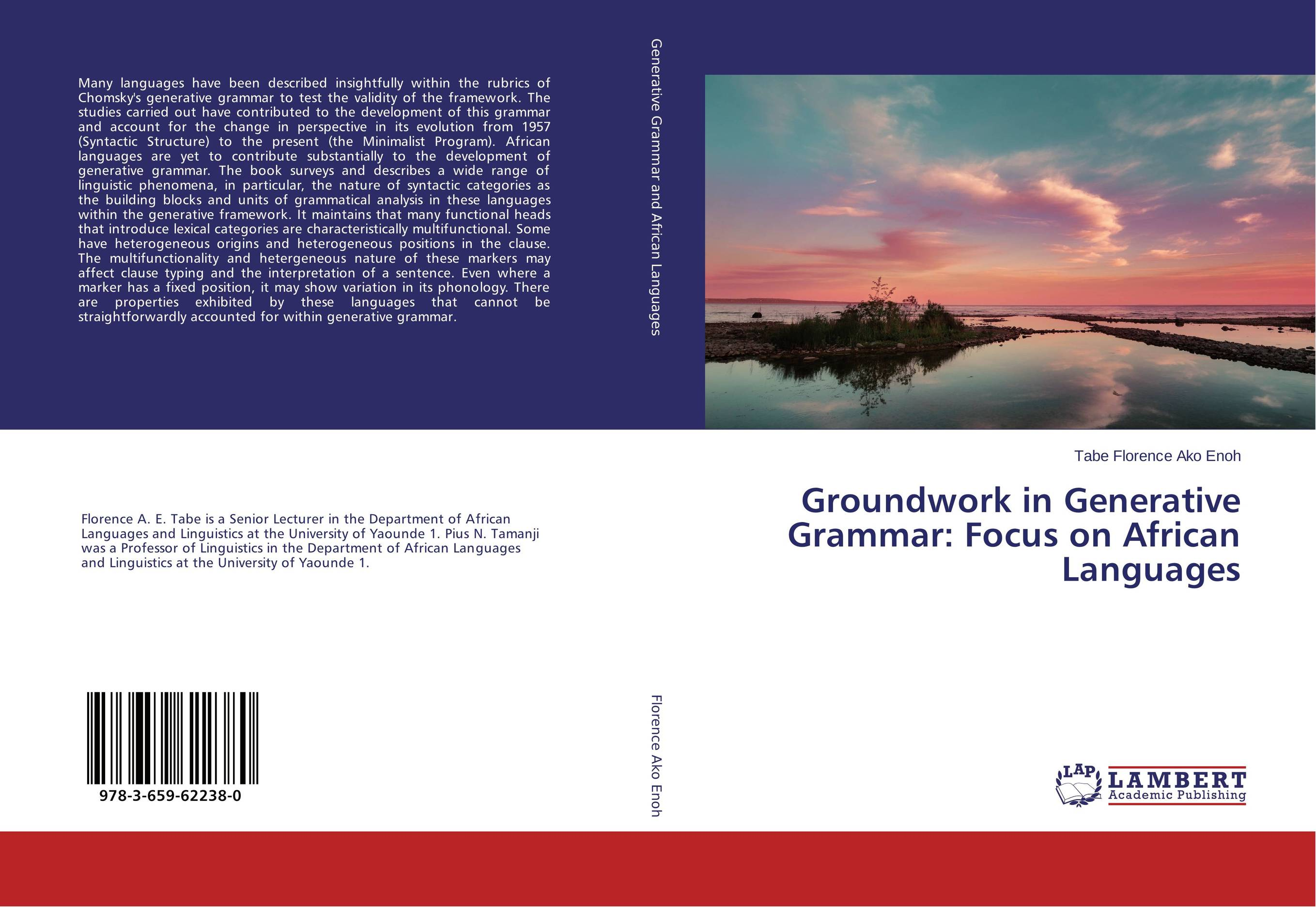 Groundwork in Generative Grammar: Focus on African Languages cherdpong kheerajit and alexander g flor participatory development communication in cbnrm