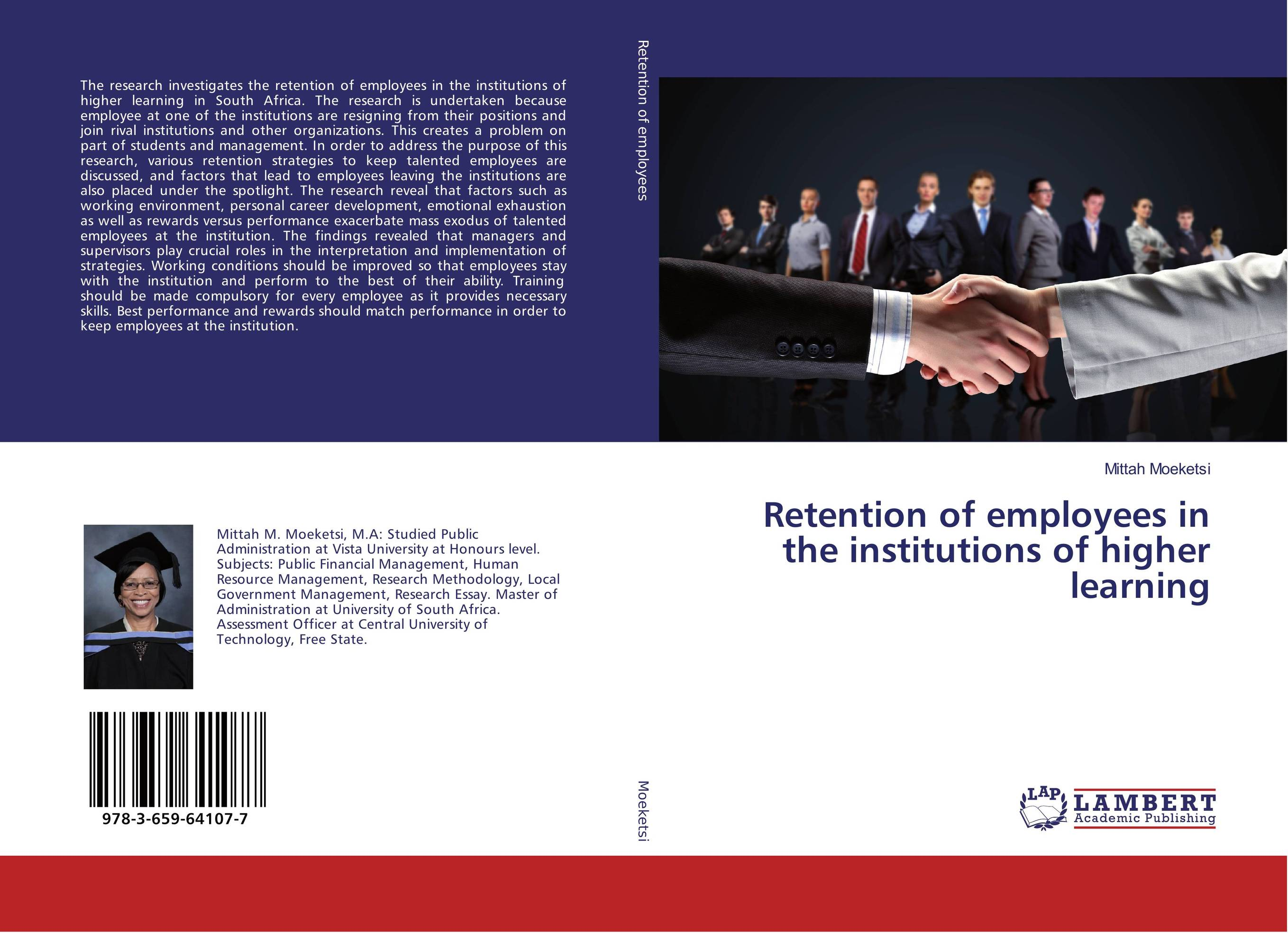 Retention of employees in the institutions of higher learning employee retention in local kenyan banks