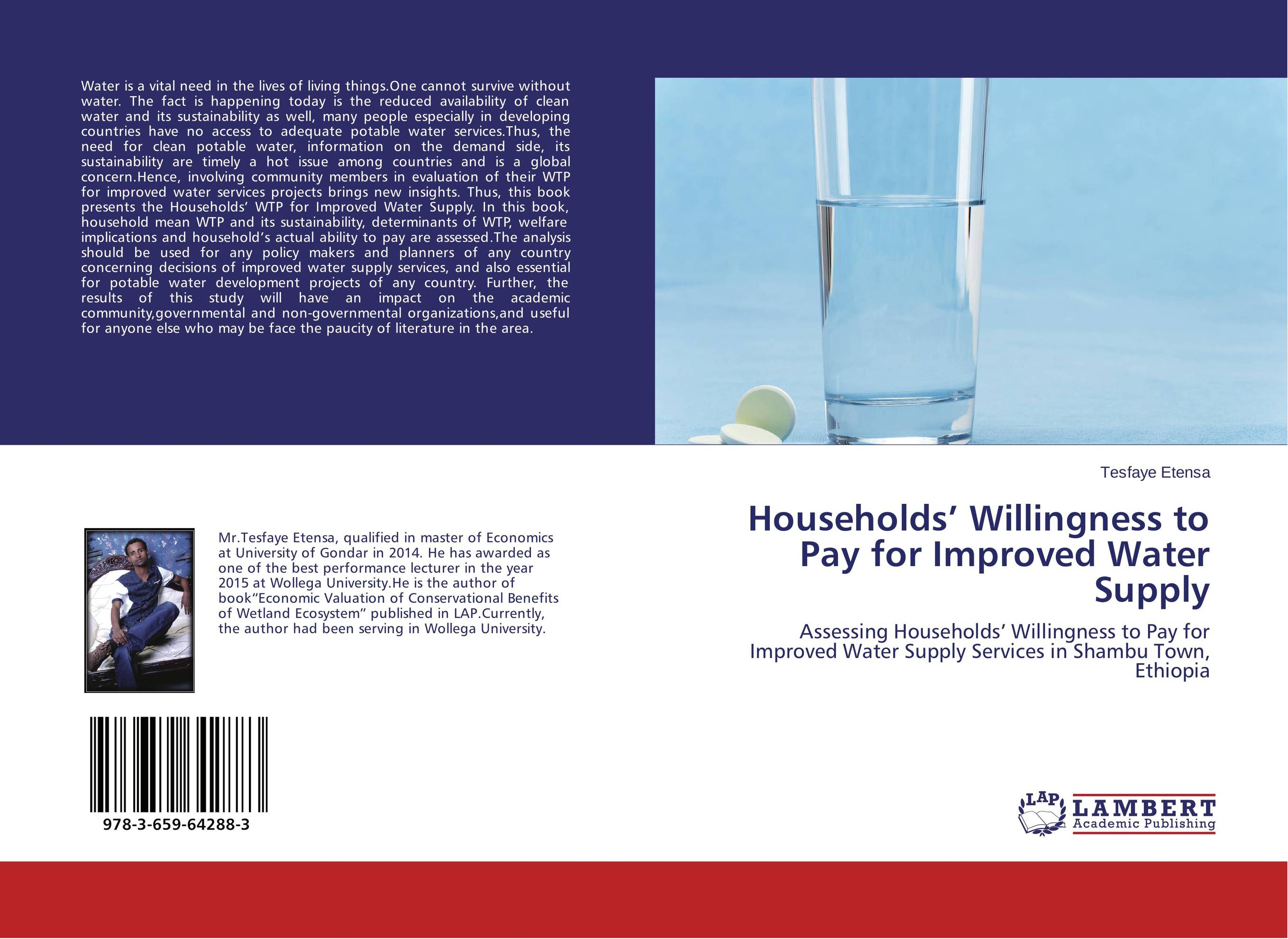 Households' Willingness to Pay for Improved Water Supply bride of the water god v 3