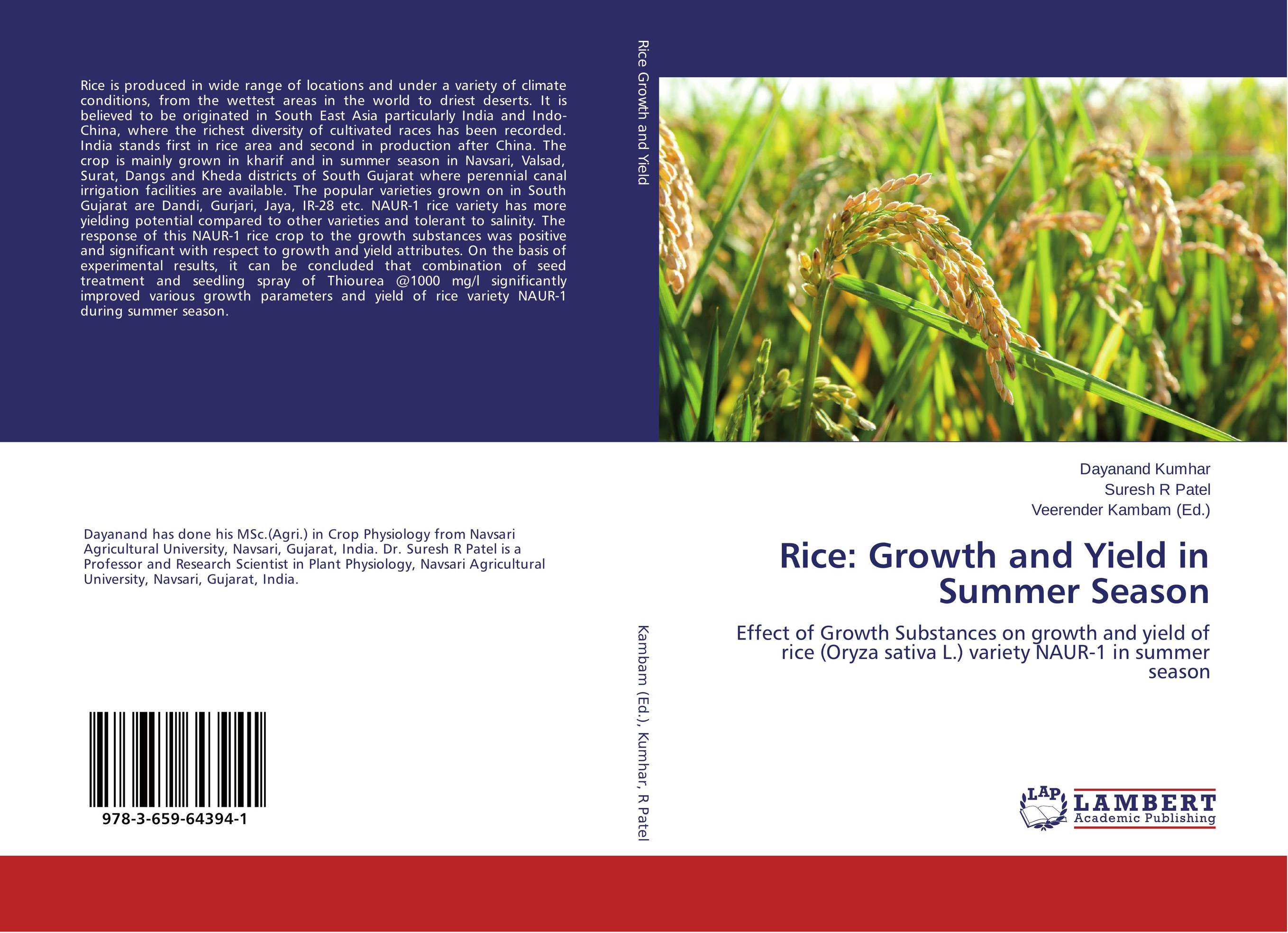 Rice: Growth and Yield in Summer Season rakesh kumar production potential of summer mungbean cultivars in india