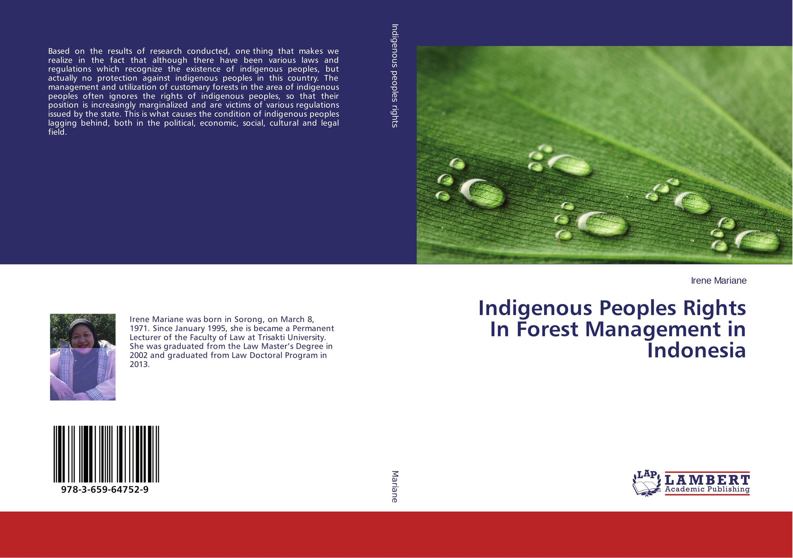 где купить Indigenous Peoples Rights In Forest Management in Indonesia по лучшей цене