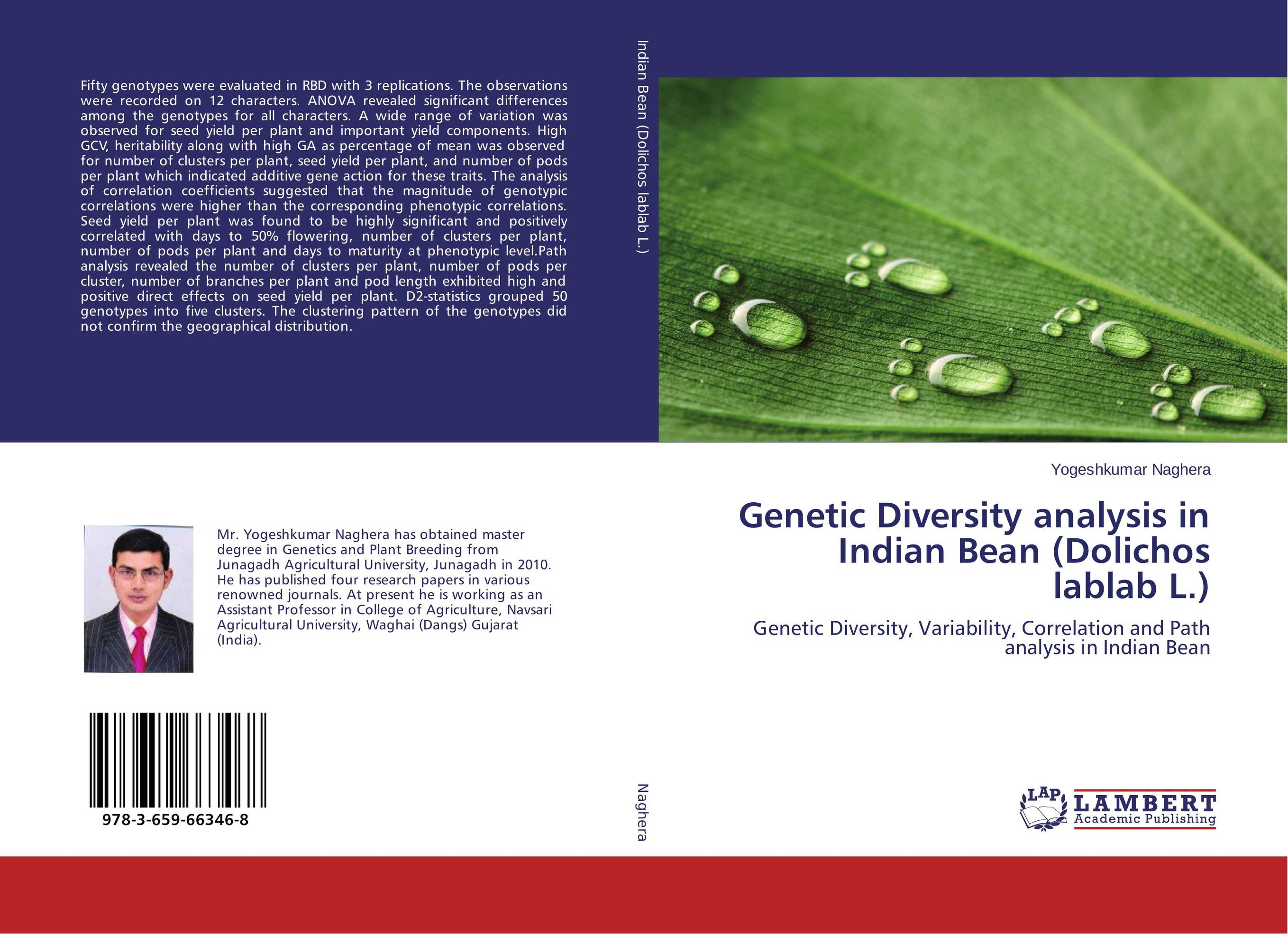 Genetic Diversity analysis in Indian Bean (Dolichos lablab L.) vaishali shami naresh pratap singh and pramod kumar pal morpho physio and genetic diversity analysis on indian wheat genotypes