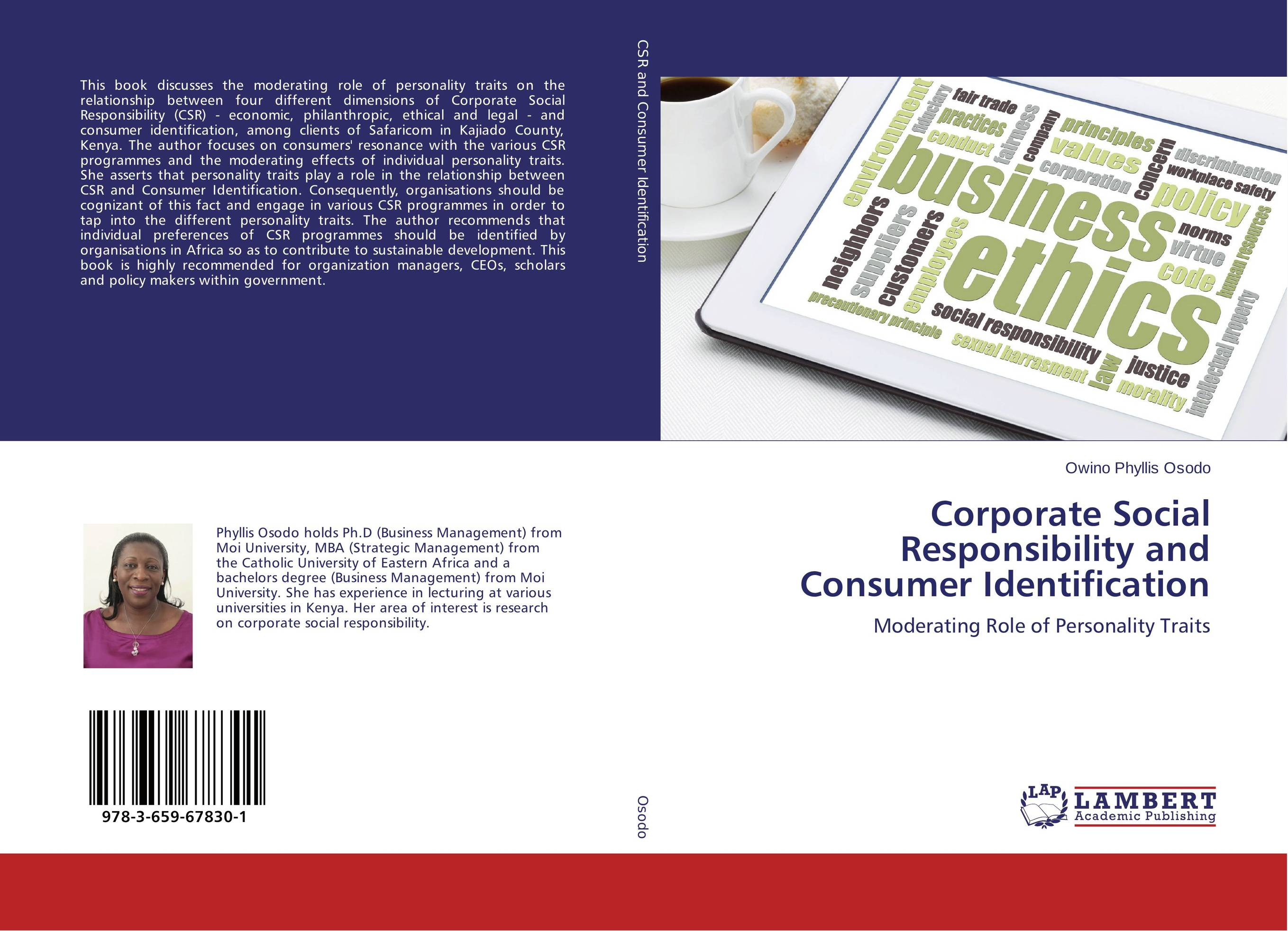 Corporate Social Responsibility and Consumer Identification personality traits and interpretaion
