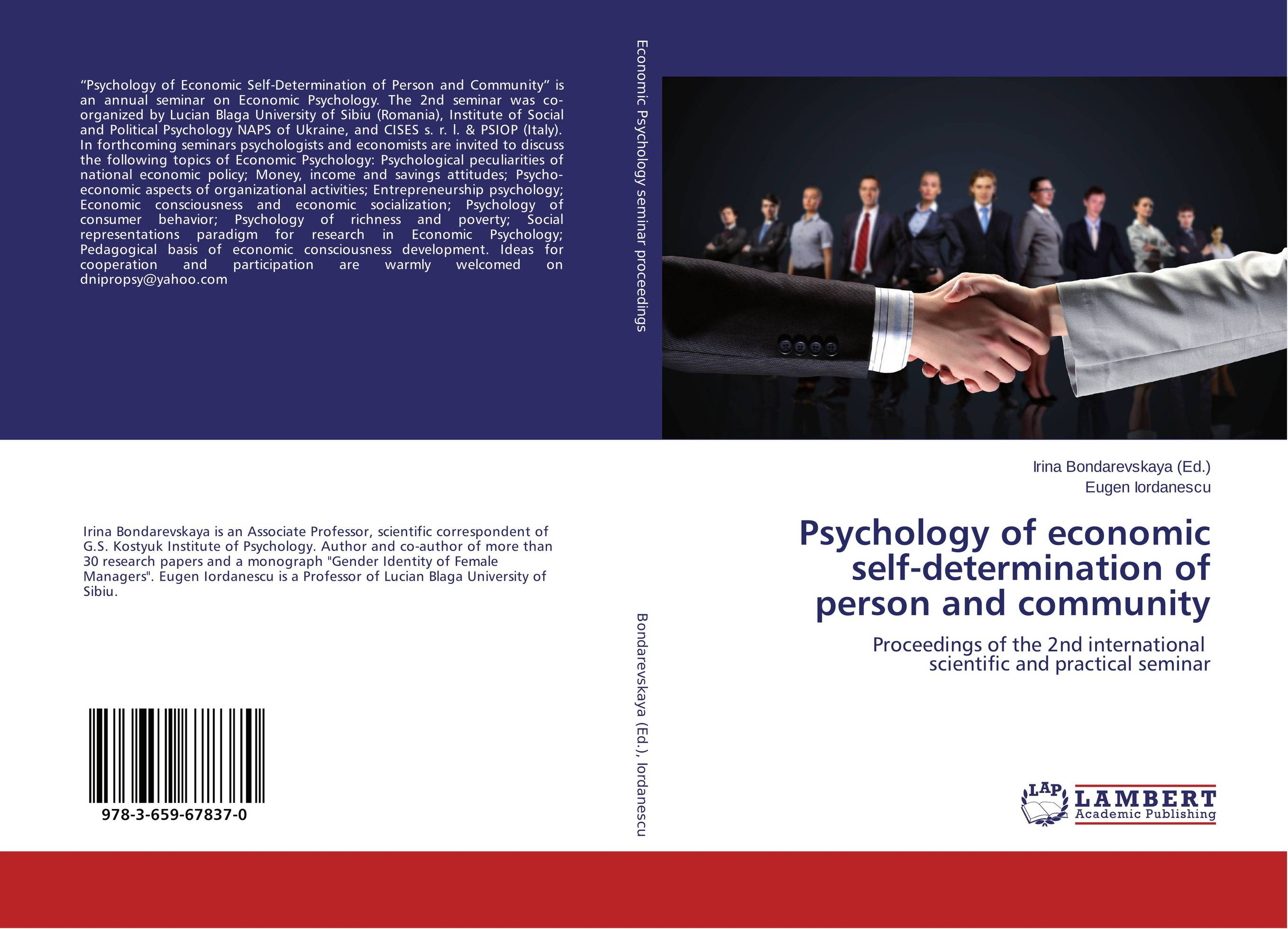Psychology of economic self-determination of person and community economic methodology