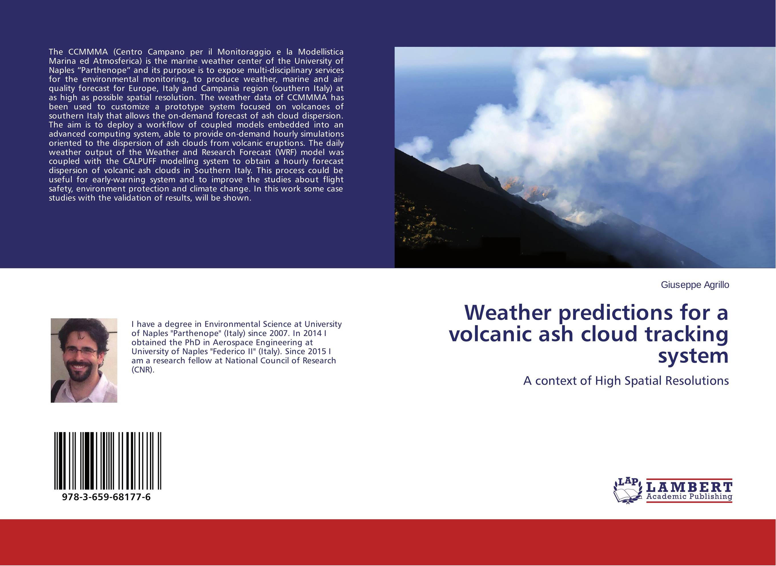 Weather predictions for a volcanic ash cloud tracking system