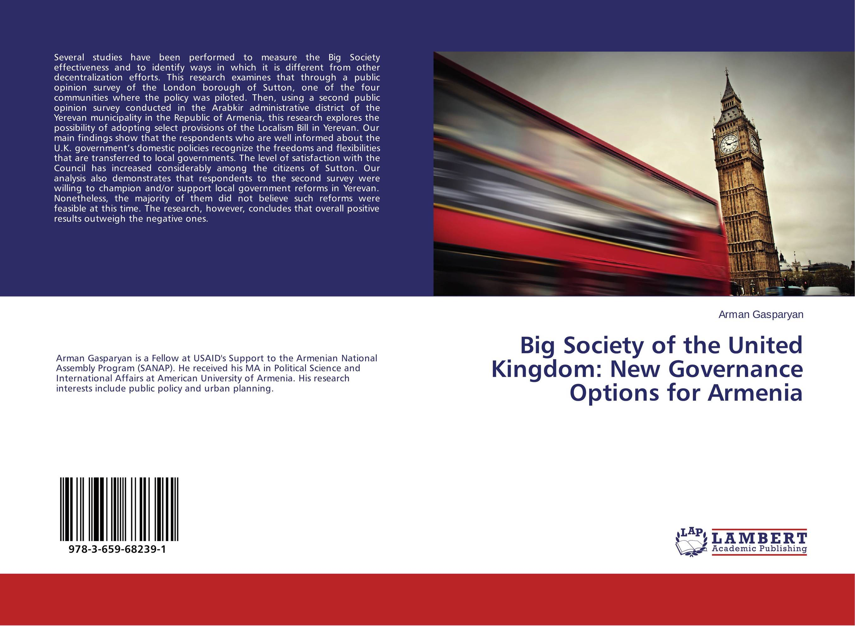 Big Society of the United Kingdom: New Governance Options for Armenia купить