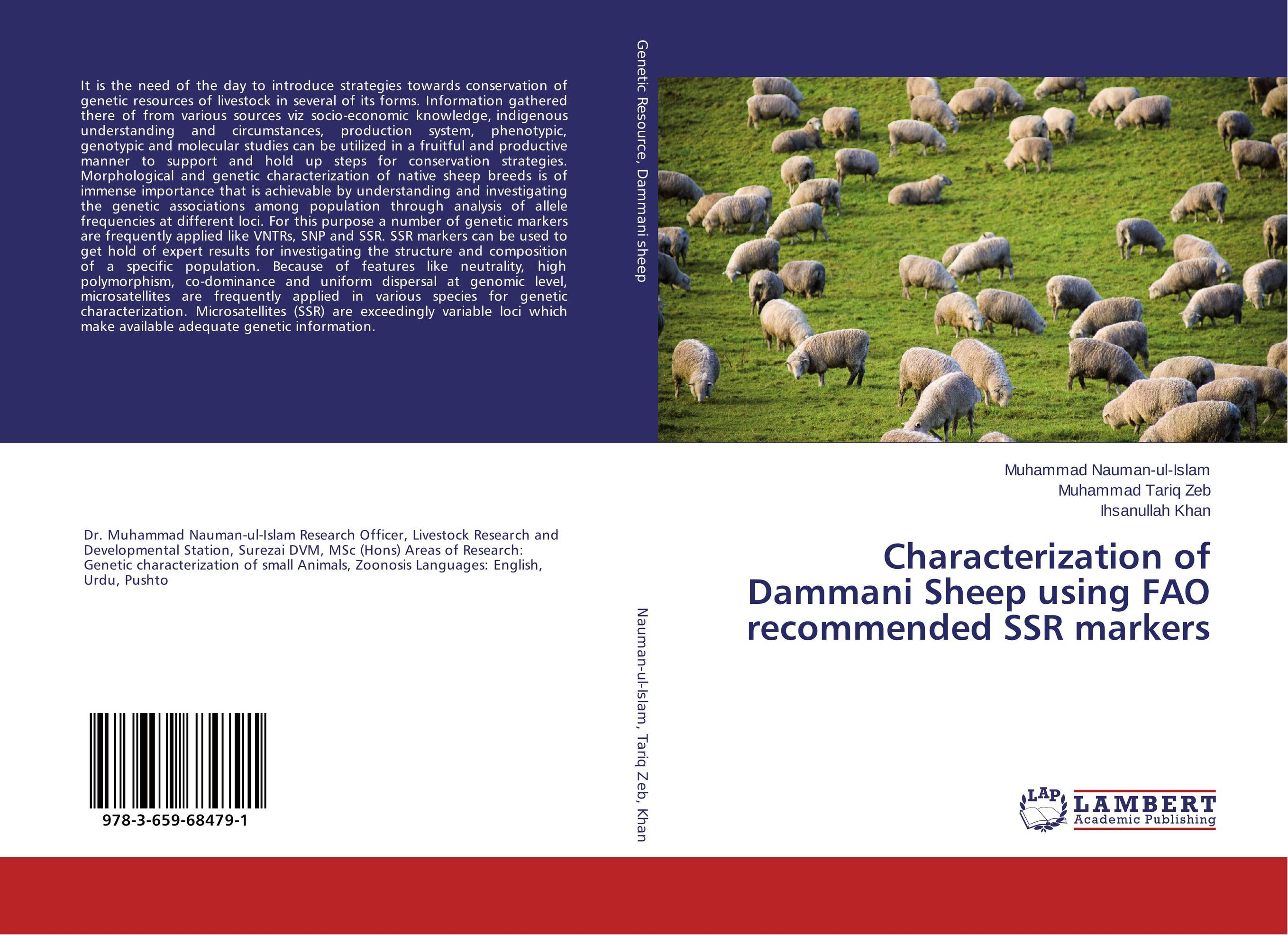 Characterization of Dammani Sheep using FAO recommended SSR markers eman ibrahim el sayed abdel wahab molecular genetic characterization studies of some soybean cultivars