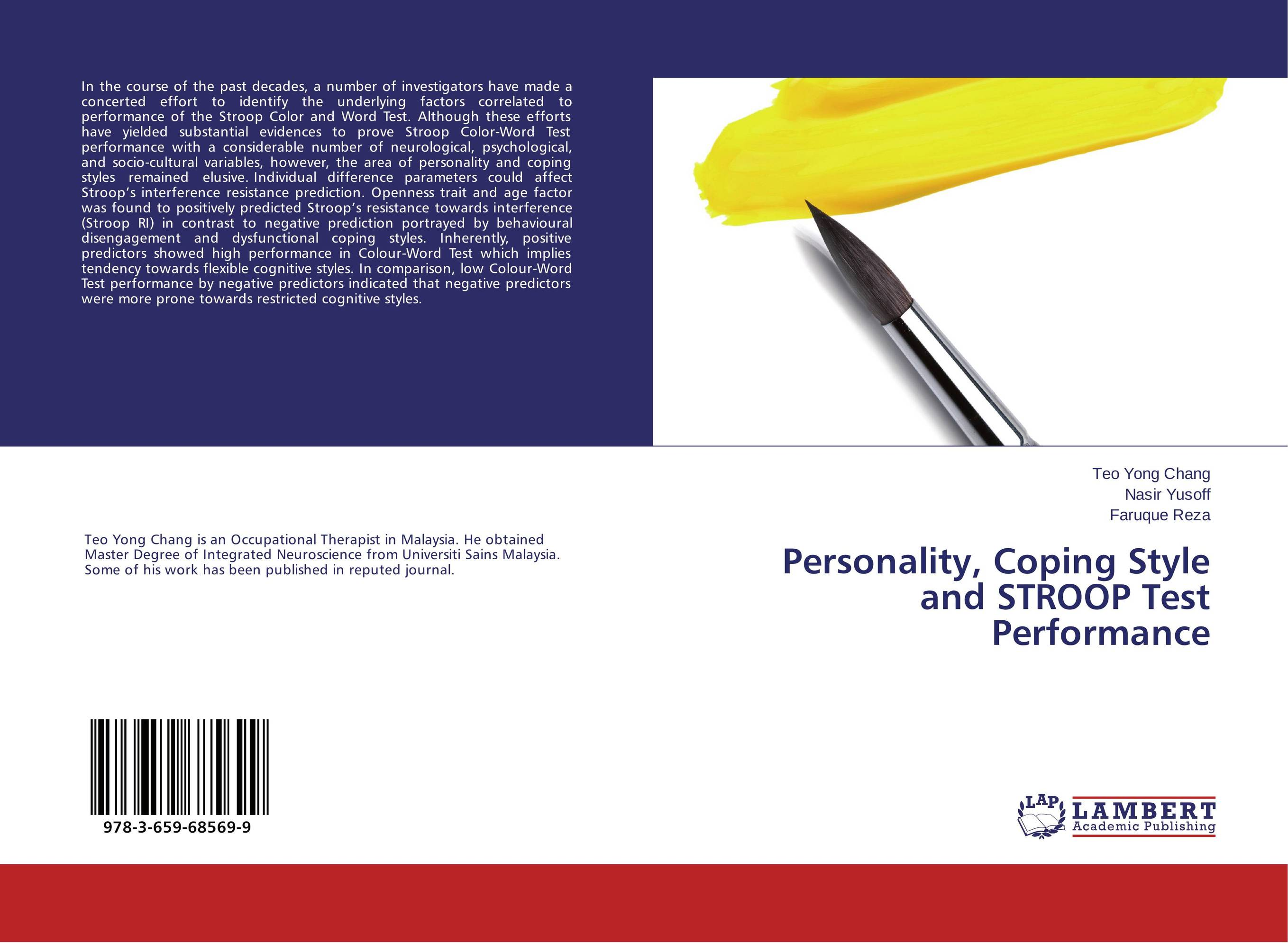 Personality, Coping Style and STROOP Test Performance william labov principles of linguistic change cognitive and cultural factors