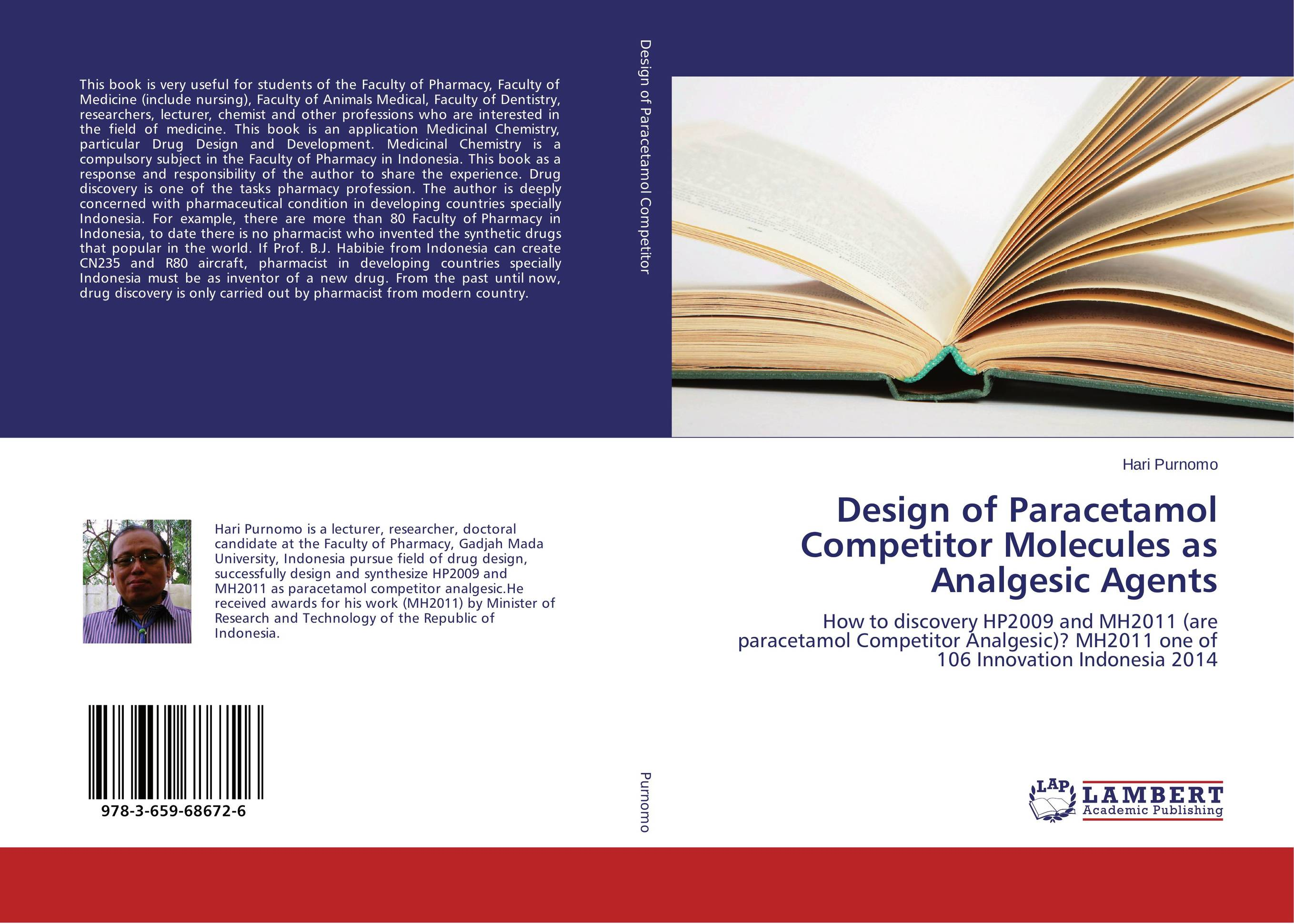Design of Paracetamol Competitor Molecules as Analgesic Agents drug discovery and design