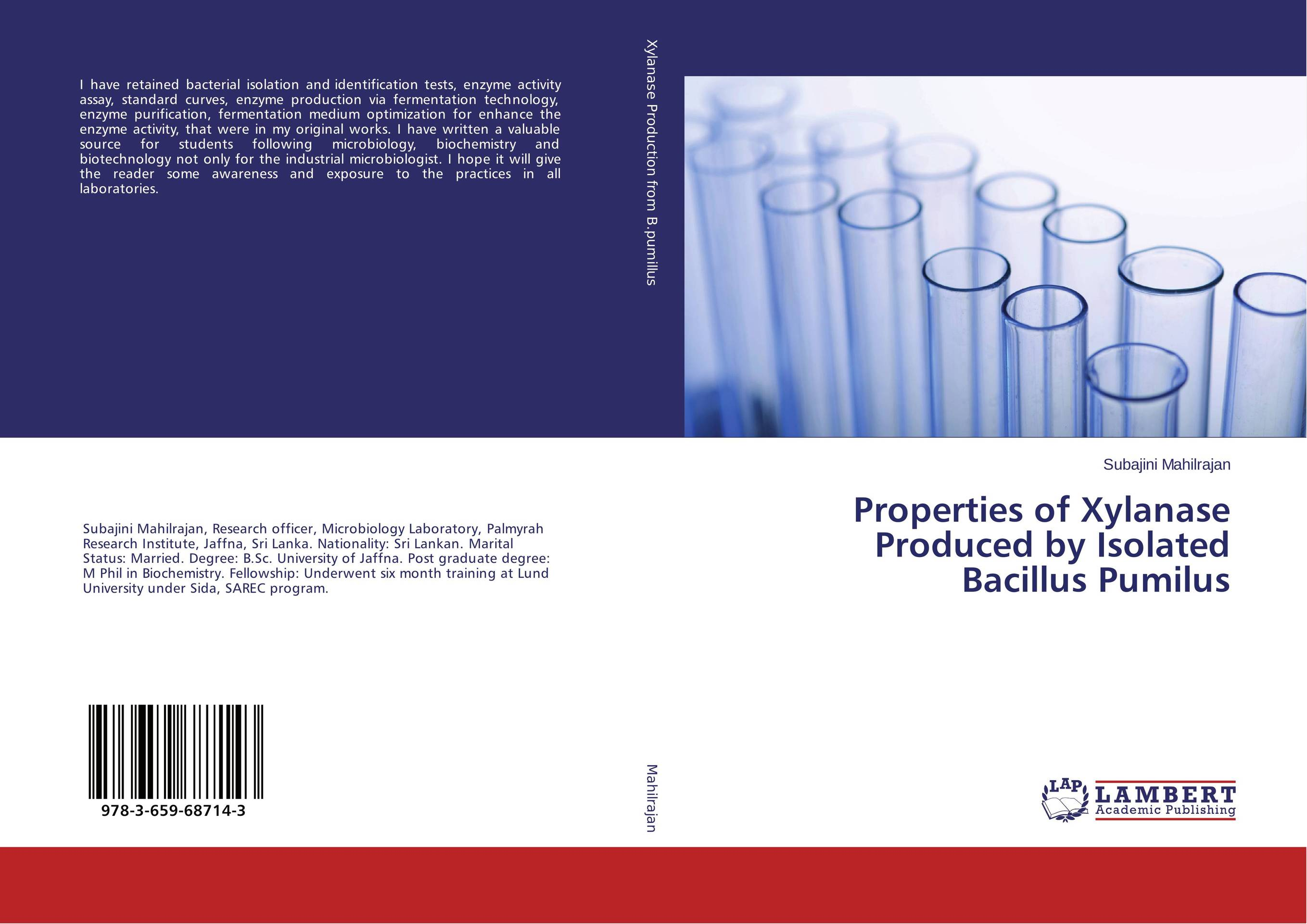 Properties of Xylanase Produced by Isolated Bacillus Pumilus bacterial biochemistry and biotechnology