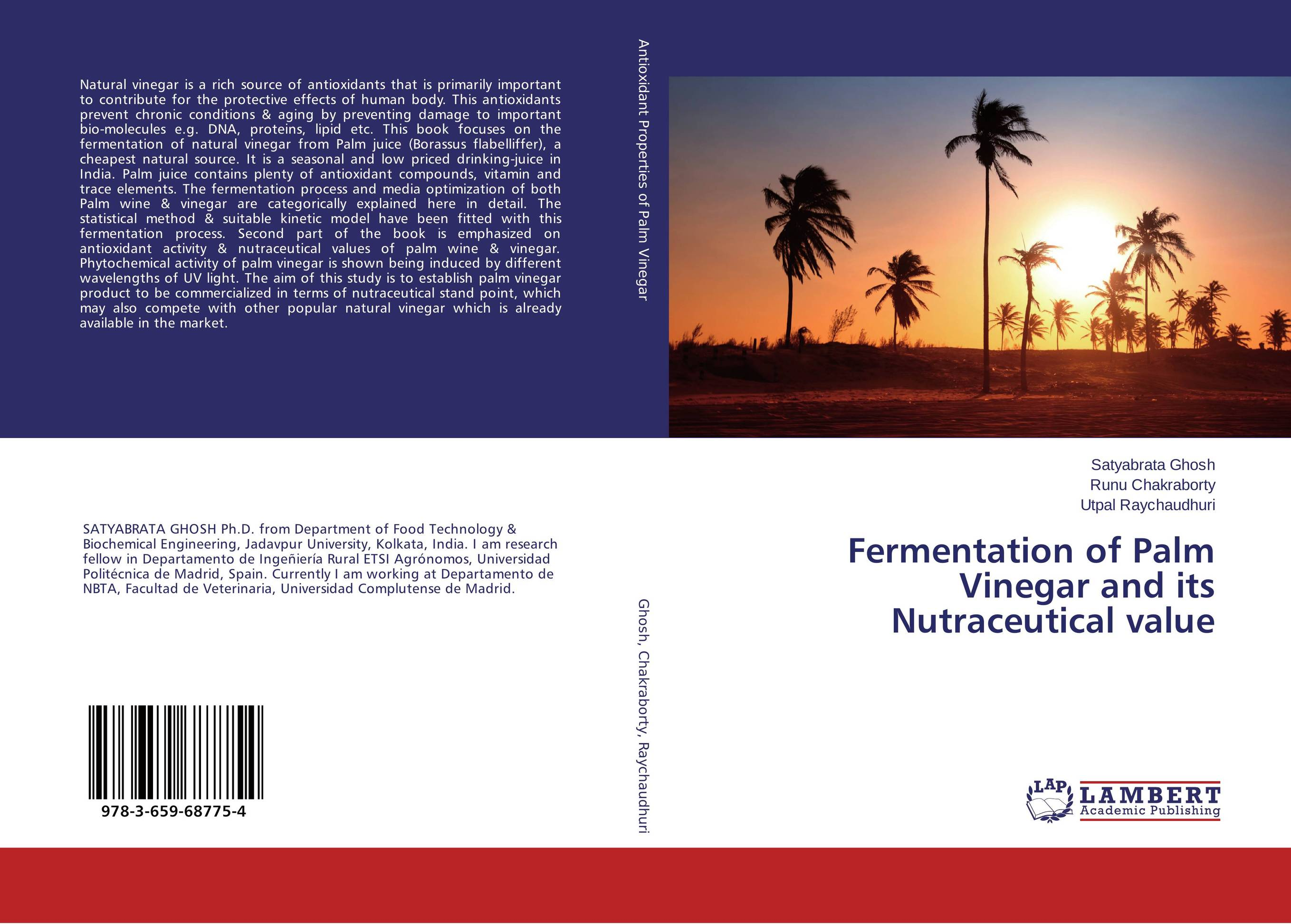 Fermentation of Palm Vinegar and its Nutraceutical value