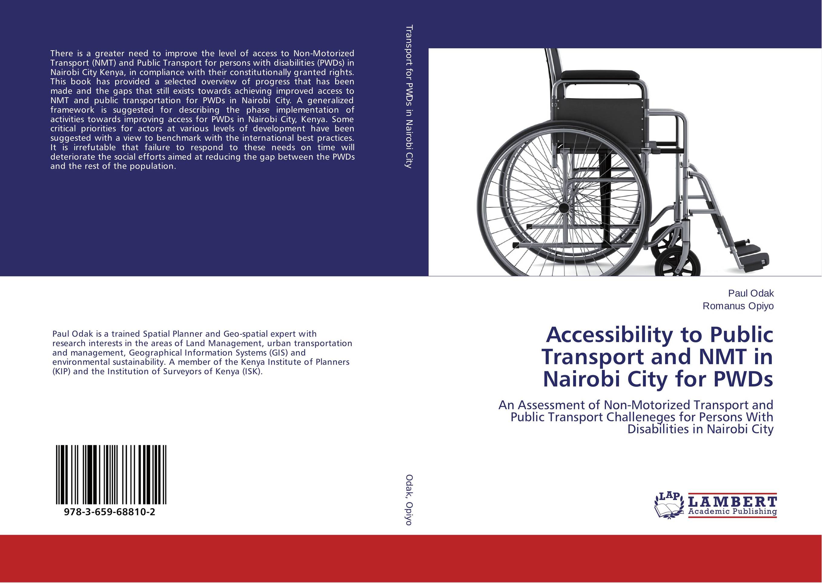 Accessibility to Public Transport and NMT in Nairobi City for PWDs it nairobi 08699 50