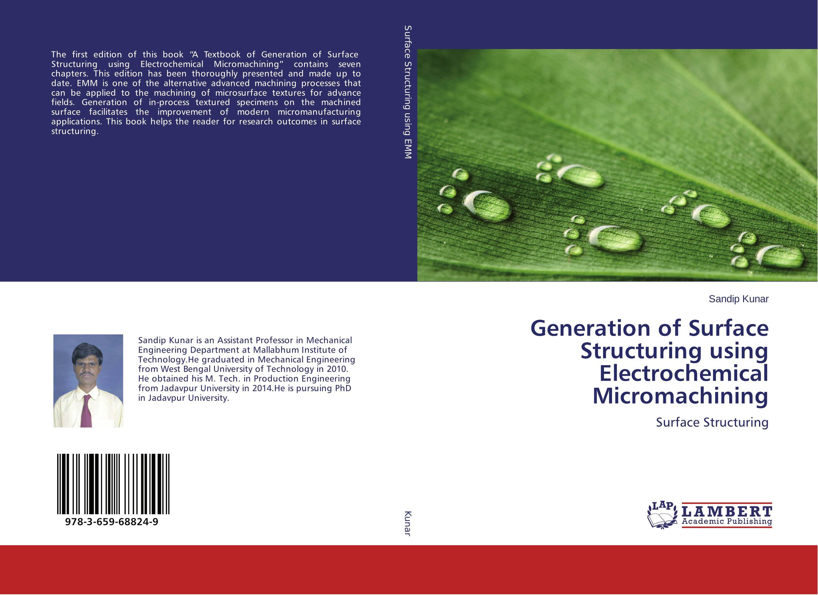 Generation of Surface Structuring using Electrochemical Micromachining petar piljek zdenka keran and ante ninic micromachining