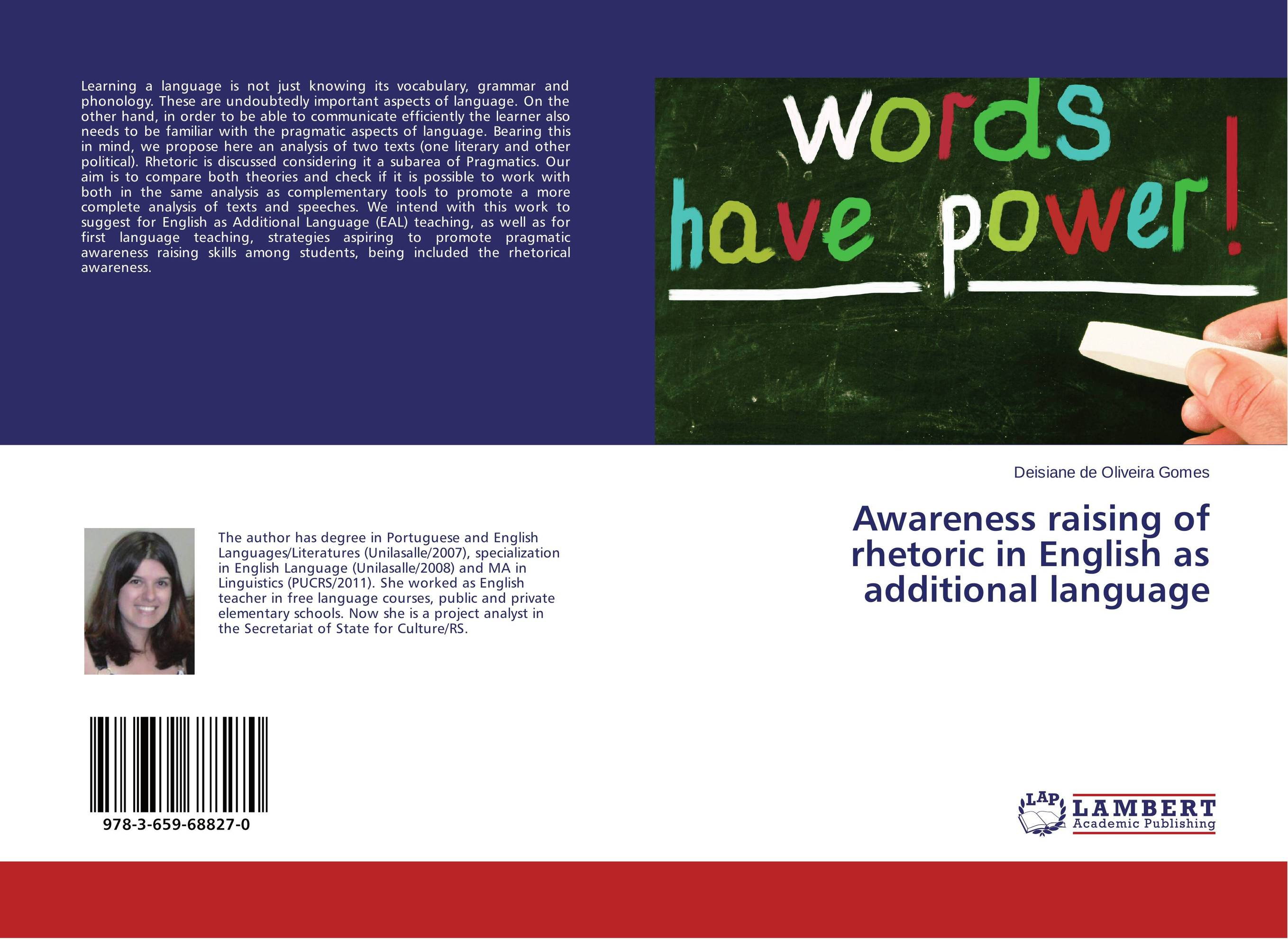 Awareness raising of rhetoric in English as additional language james wasajja the english language communicative needs among international students
