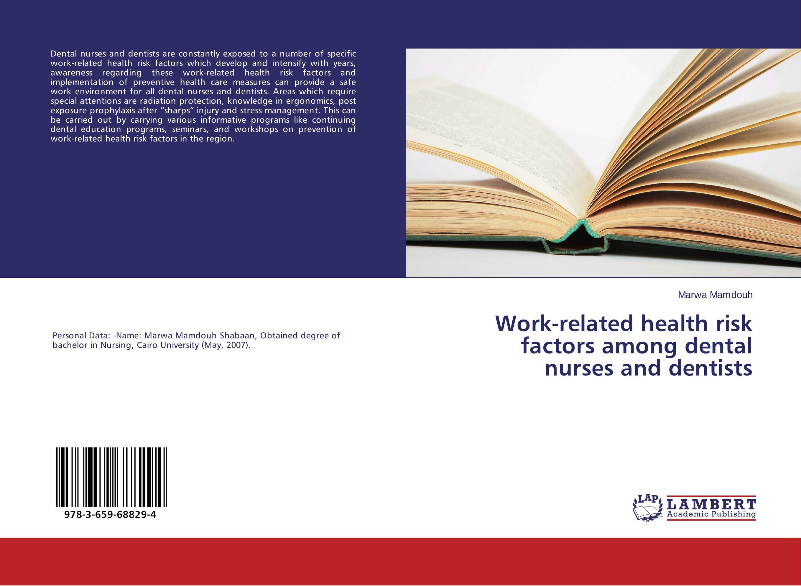Work-related health risk factors among dental nurses and dentists risk regulation and administrative constitutionalism