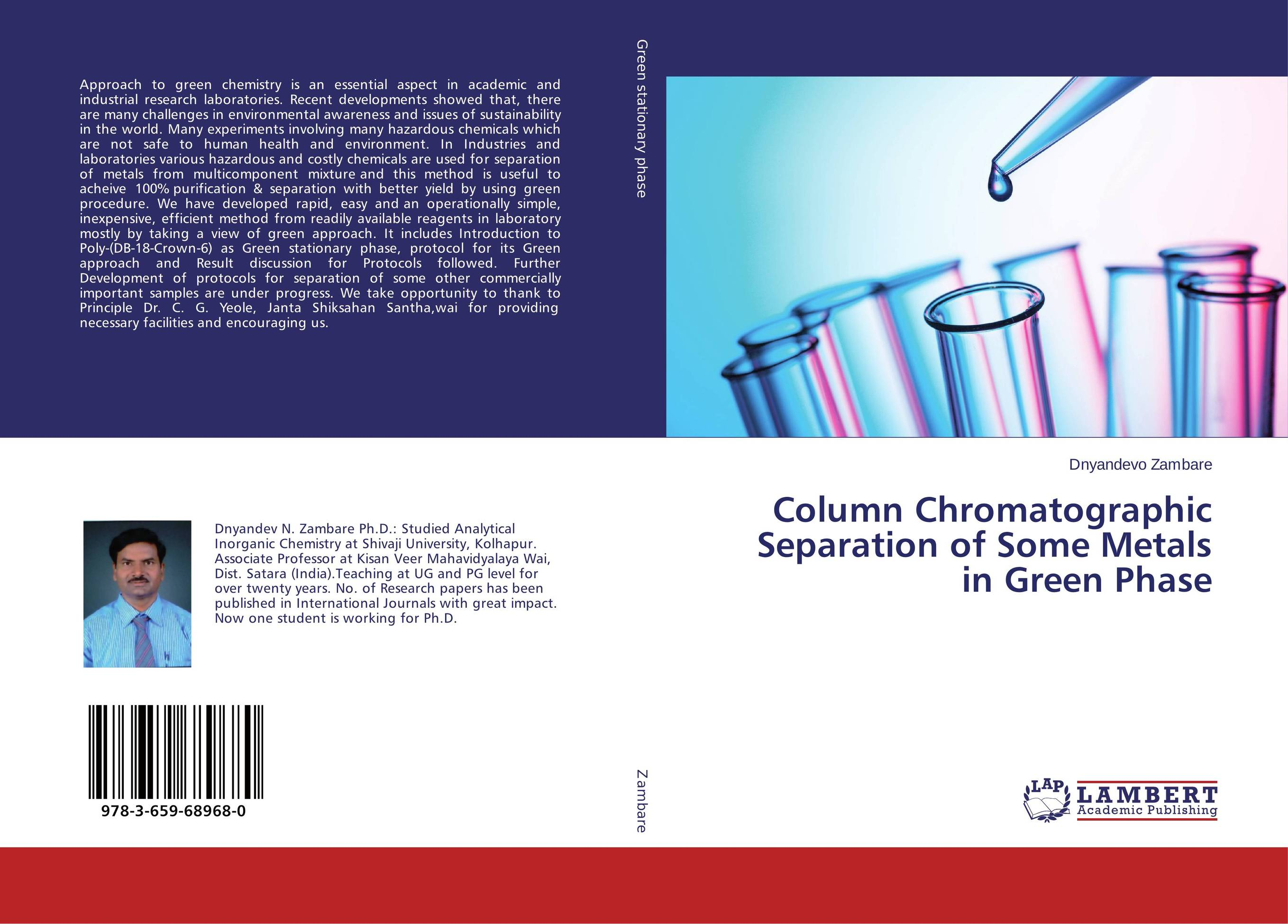 Column Chromatographic Separation of Some Metals in Green Phase