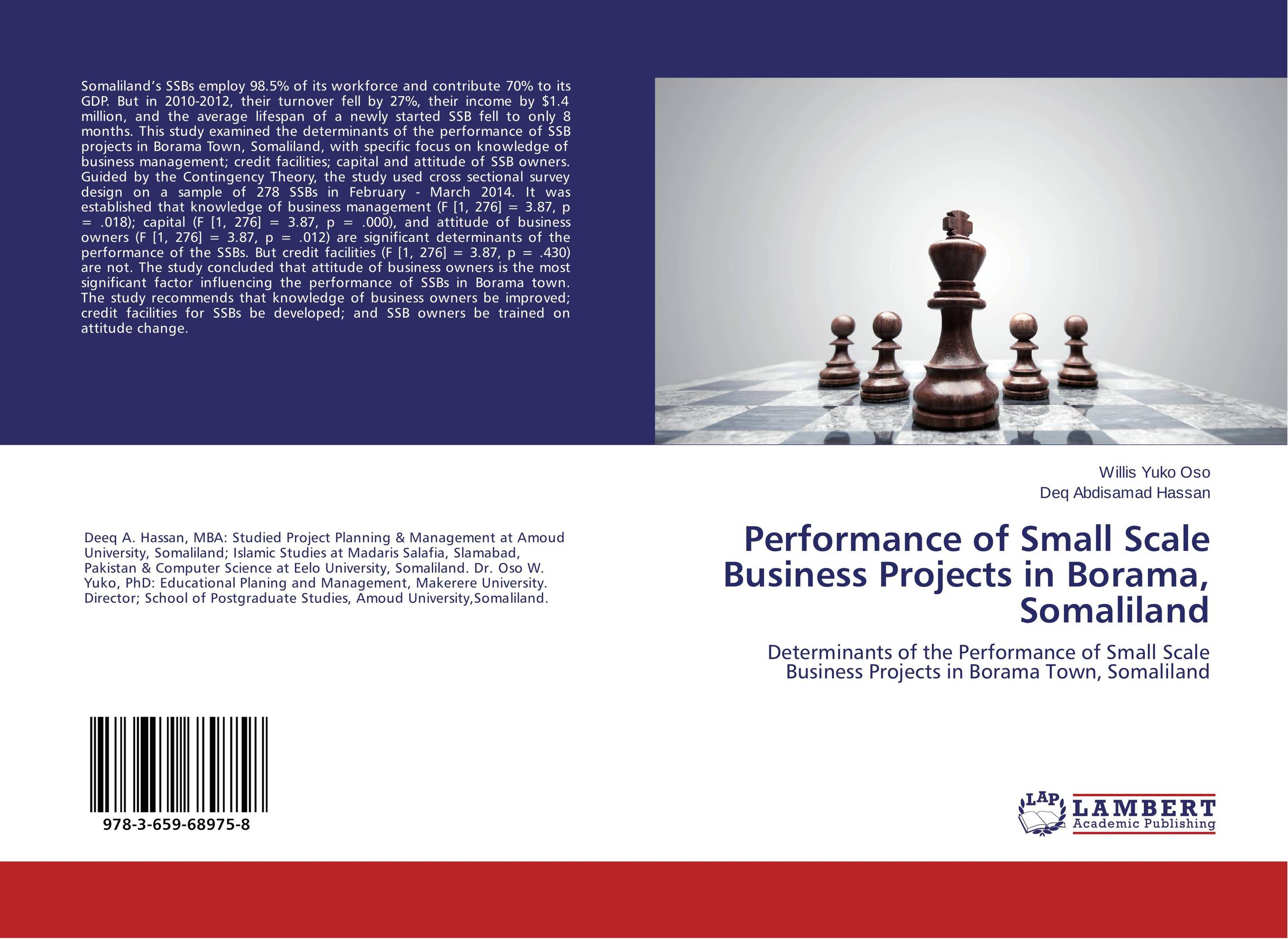 Performance of Small Scale Business Projects in Borama, Somaliland determinants of yield performance in small scale catfish production