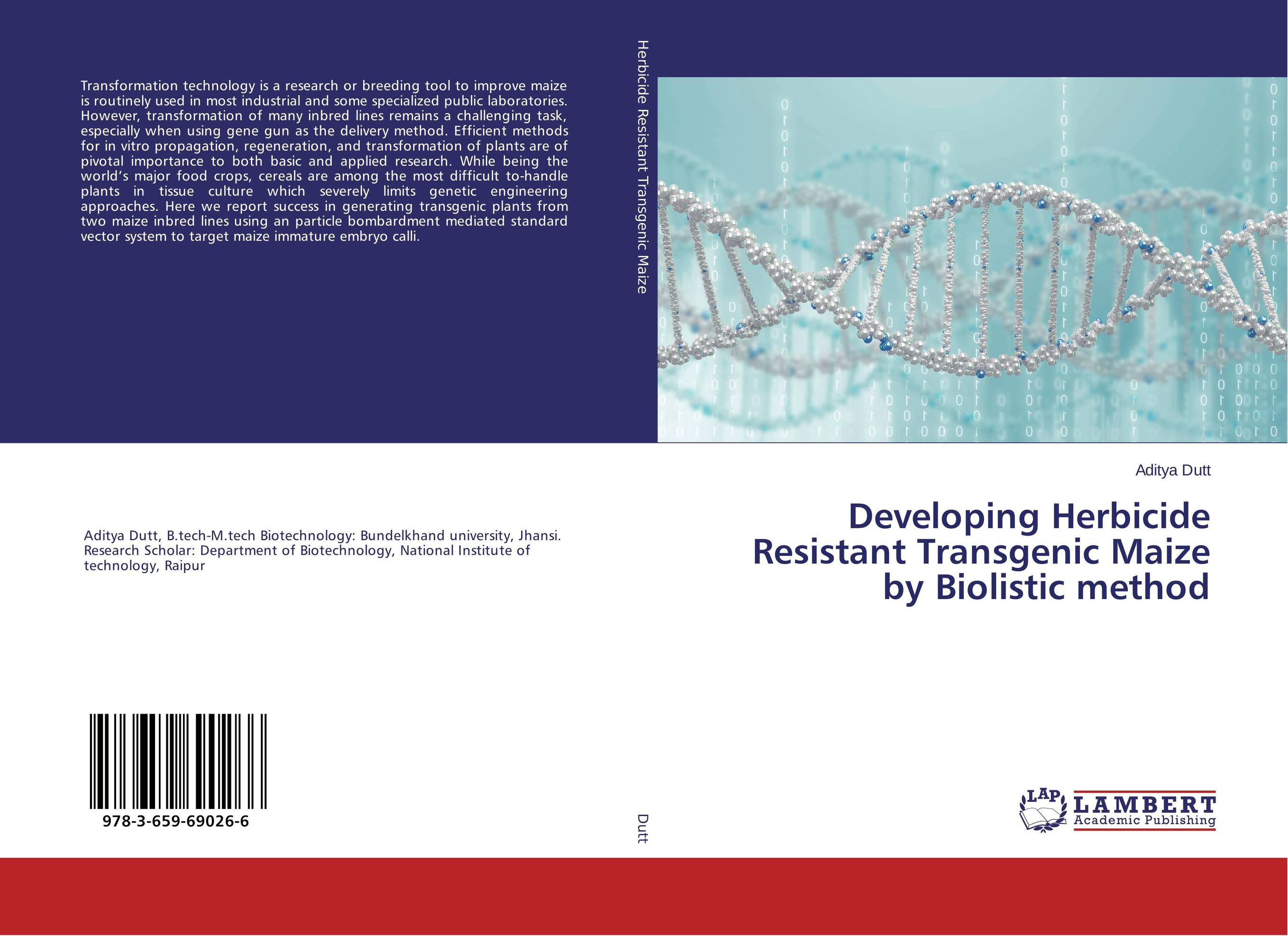 Developing Herbicide Resistant Transgenic Maize by Biolistic method efficient importance sampling in applied econometrics