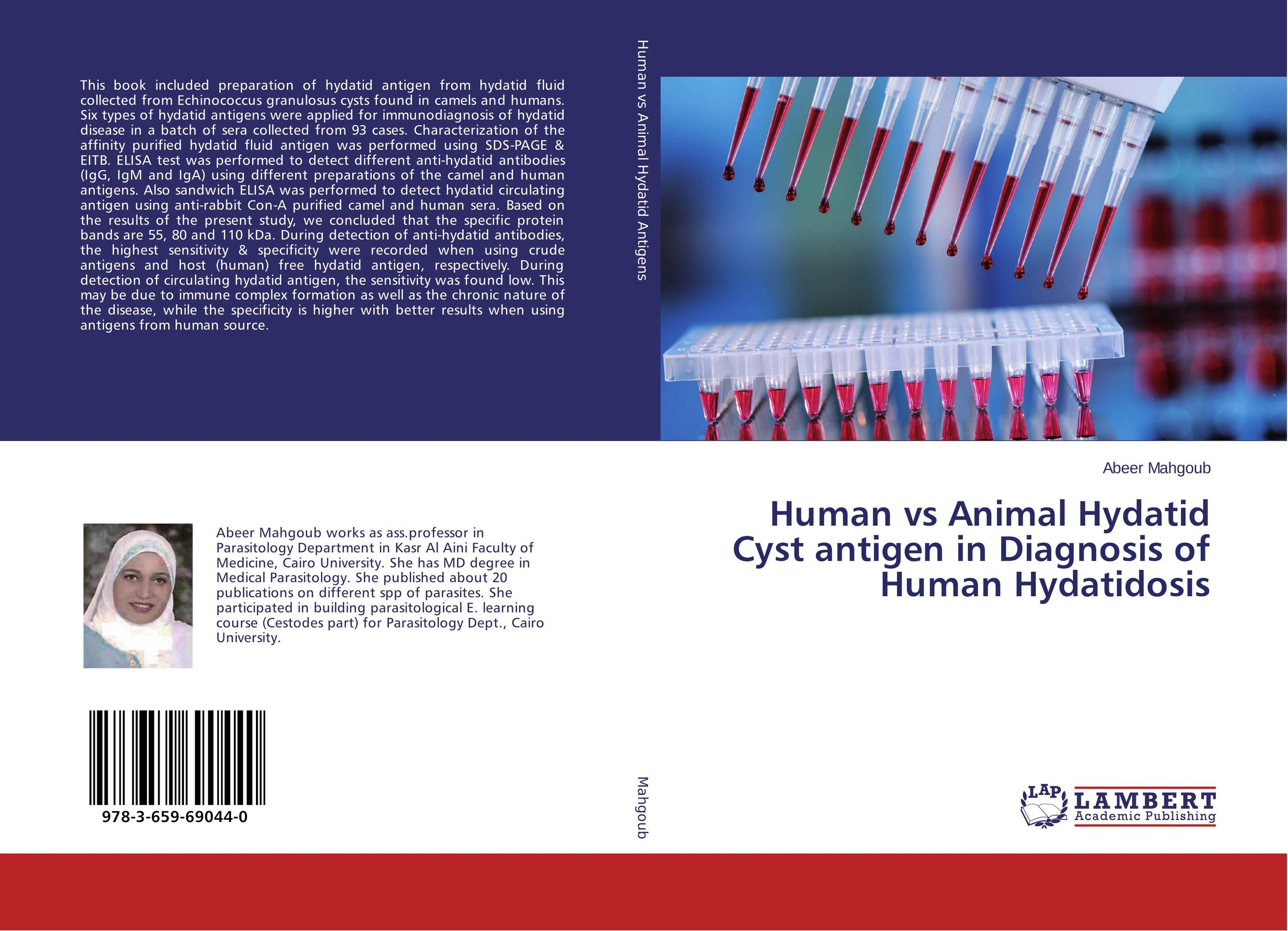 Human vs Animal Hydatid Cyst antigen in Diagnosis of Human Hydatidosis tapan kumar dutta and parimal roychoudhury diagnosis and characterization of bacterial pathogens in animal