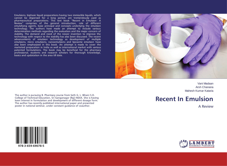 Recent In Emulsion a m van herk chemistry and technology of emulsion polymerisation