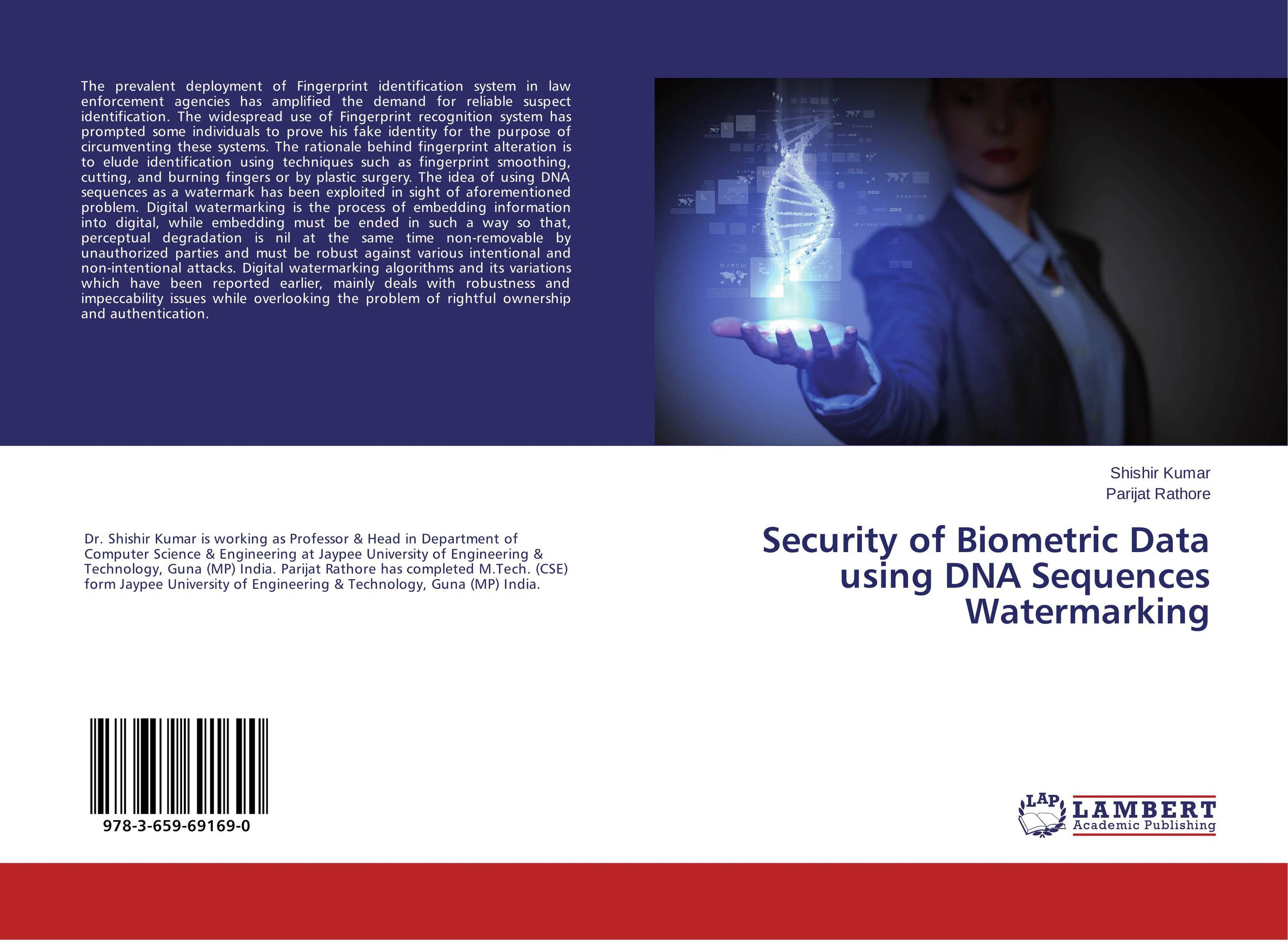 Security of Biometric Data using DNA Sequences Watermarking biometric face and fingerprint access controller tcp ip zk multibio700 facial time attendance and door security control system