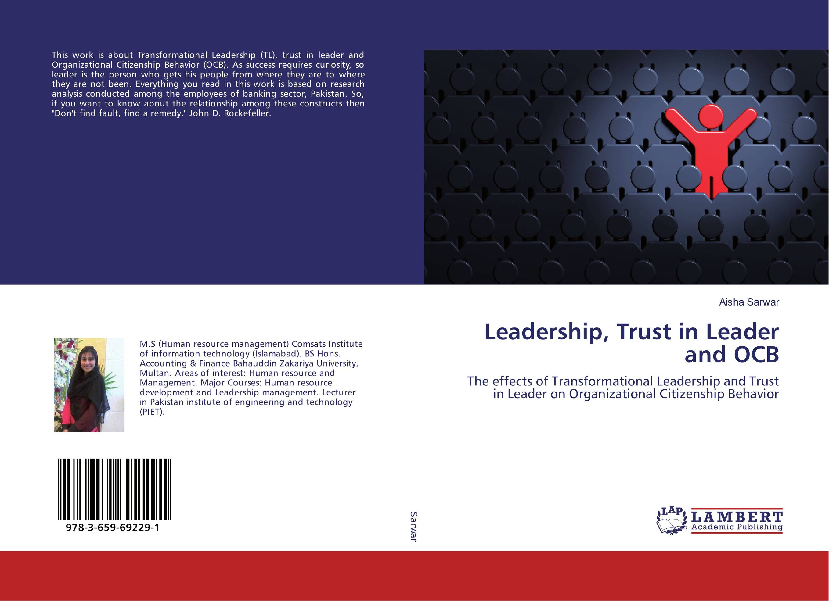 Leadership, Trust in Leader and OCB taking on the trust – the epic battle of ida tarbell and john d rockefeller