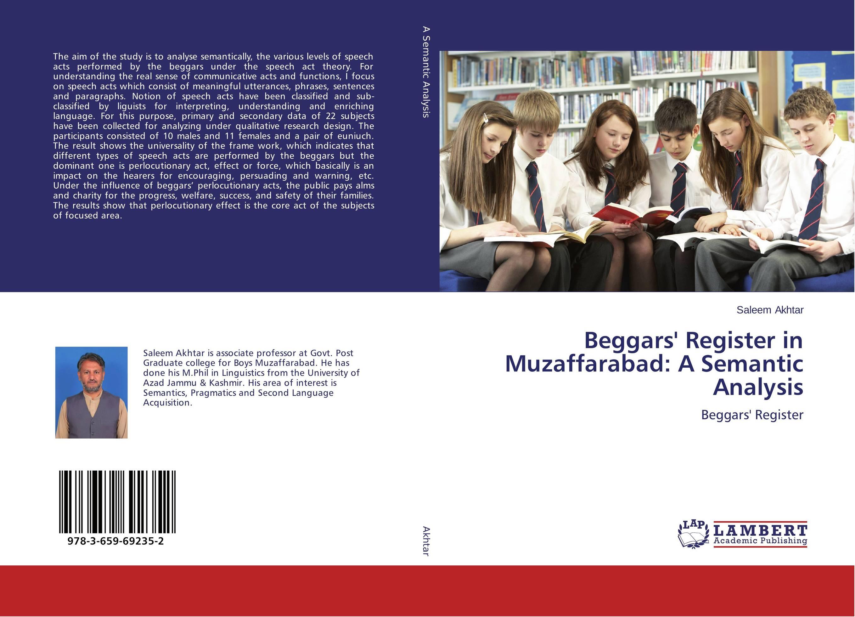 Beggars' Register in Muzaffarabad: A Semantic Analysis acts of mercy