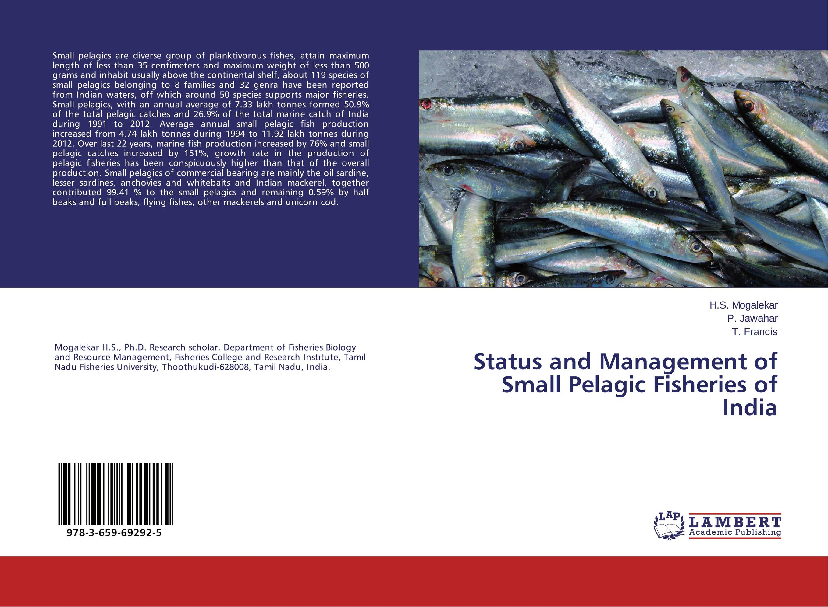Status and Management of Small Pelagic Fisheries of India