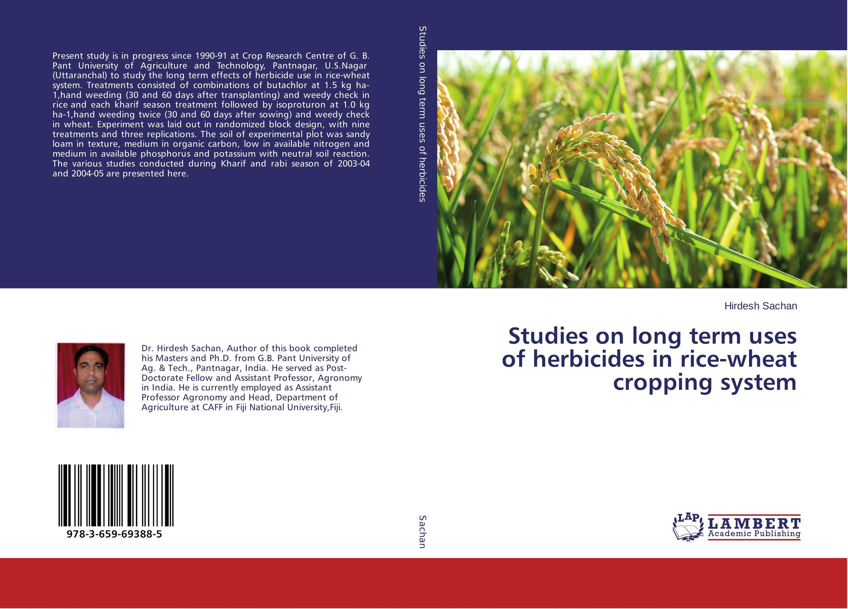 Studies on long term uses of herbicides in rice-wheat cropping system studies on long term uses of herbicides in rice wheat cropping system
