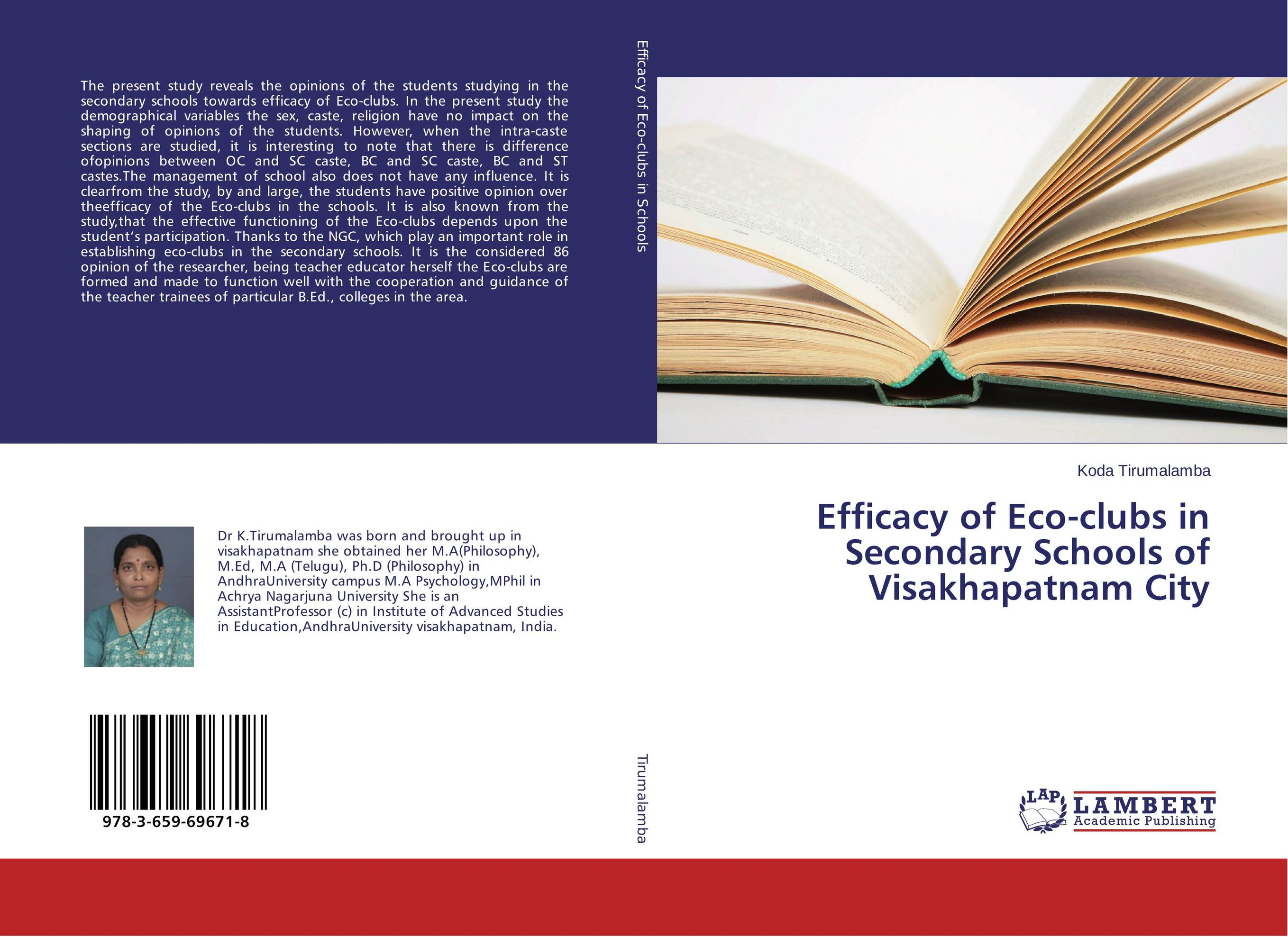 Efficacy of Eco-clubs in Secondary Schools of Visakhapatnam City the lighye caste system