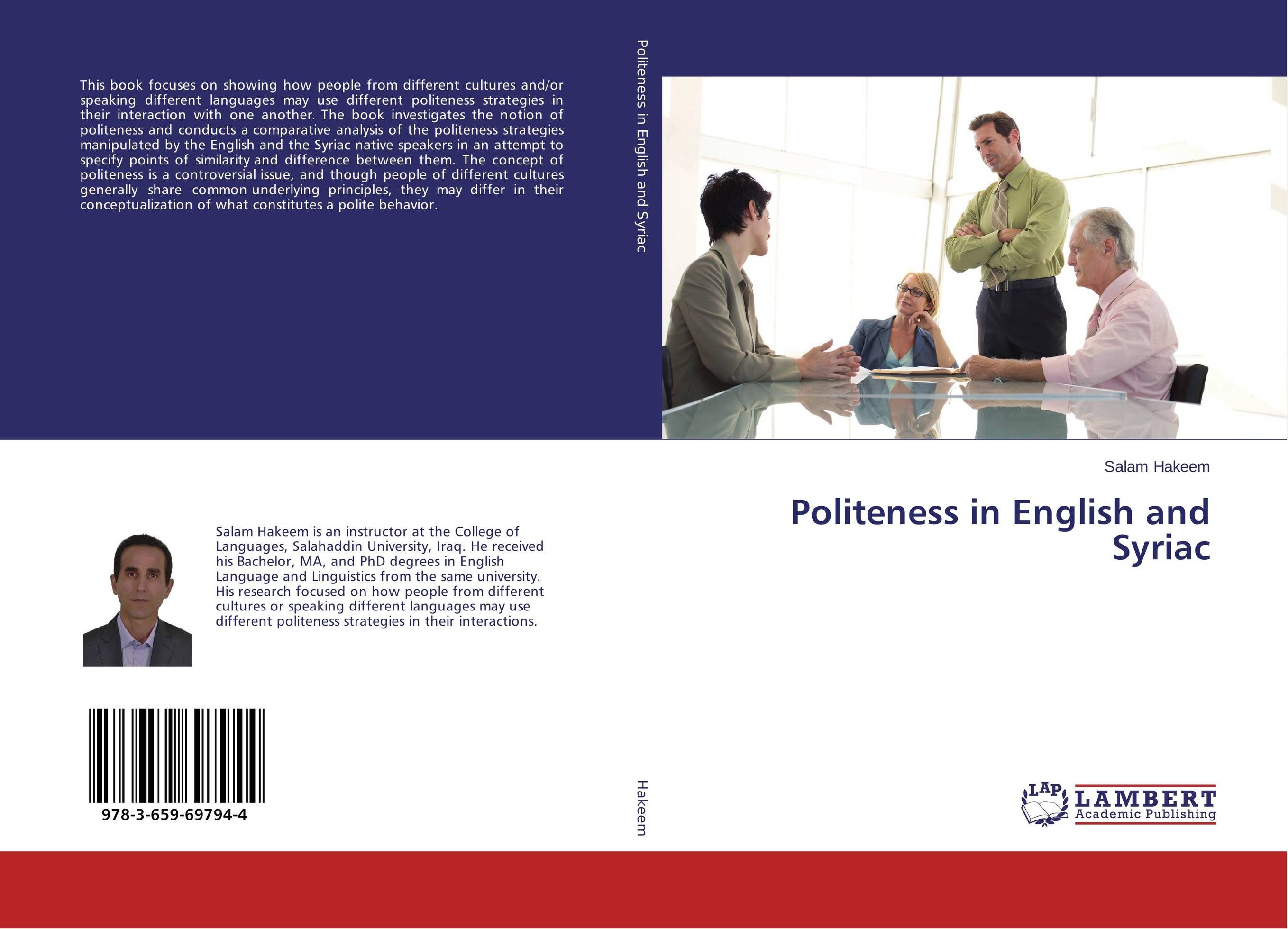 Politeness in English and Syriac kamlesh patel different fourier transforms and their applications