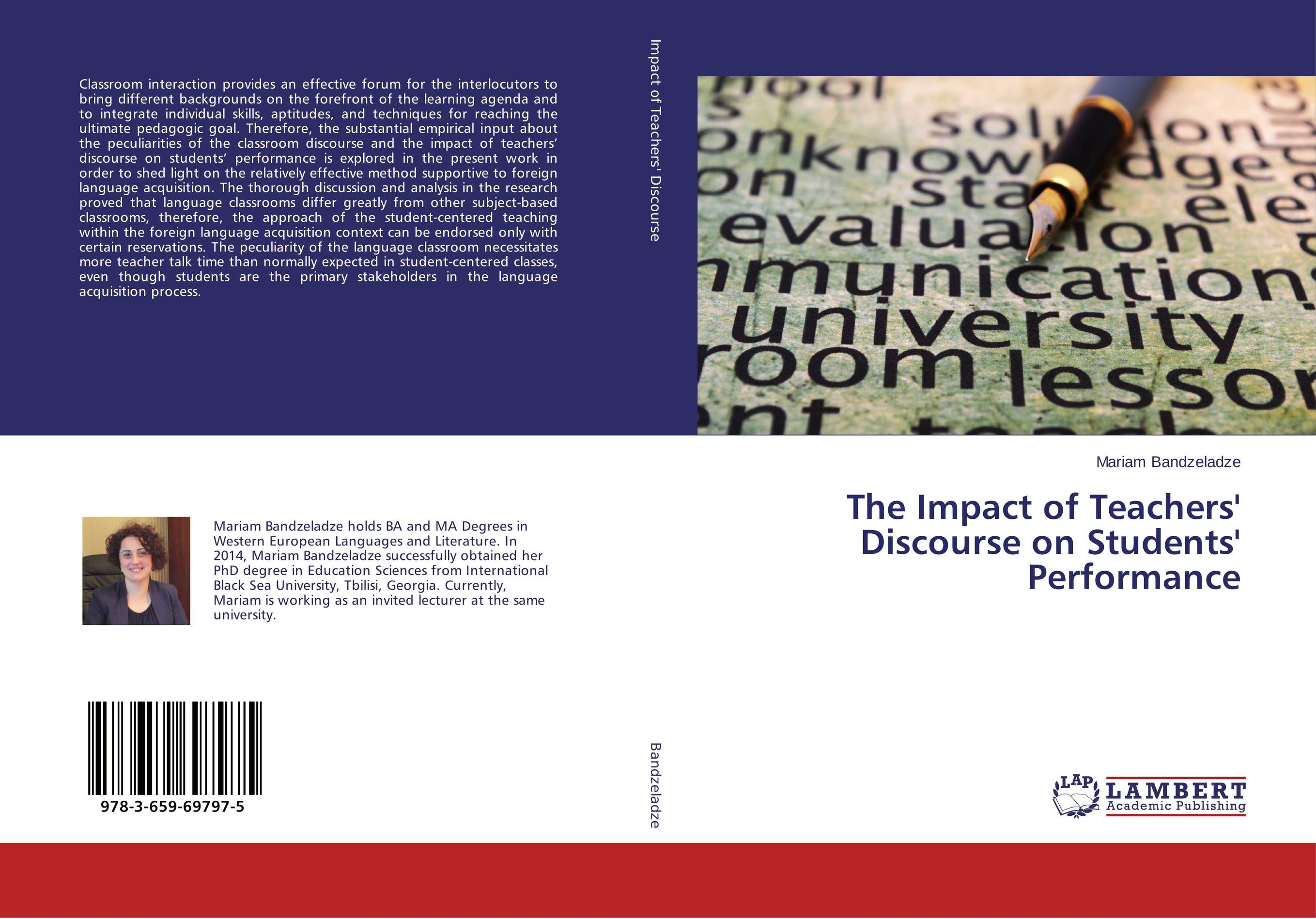 купить The Impact of Teachers' Discourse on Students' Performance недорого
