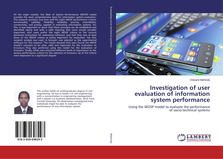 Investigation of user evaluation of information system performance