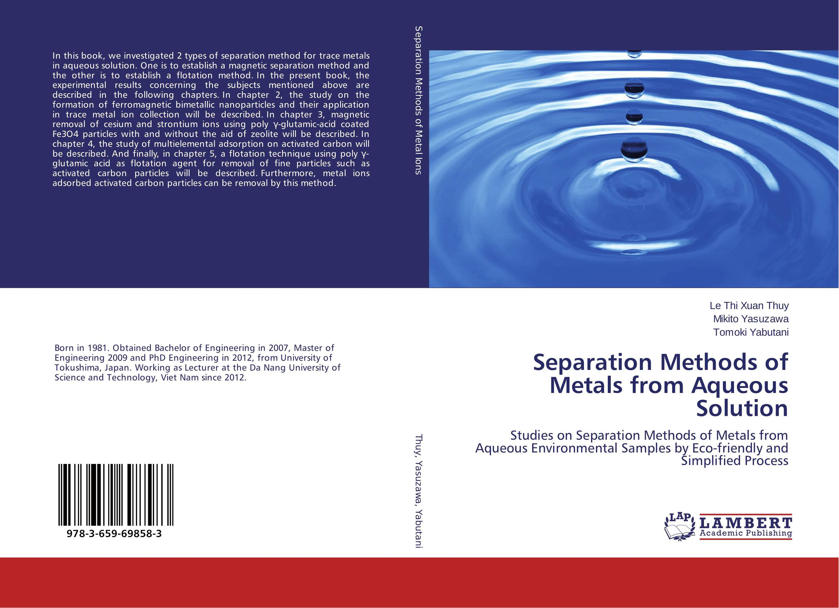 Separation Methods of Metals from Aqueous Solution a novel separation technique using hydrotropes