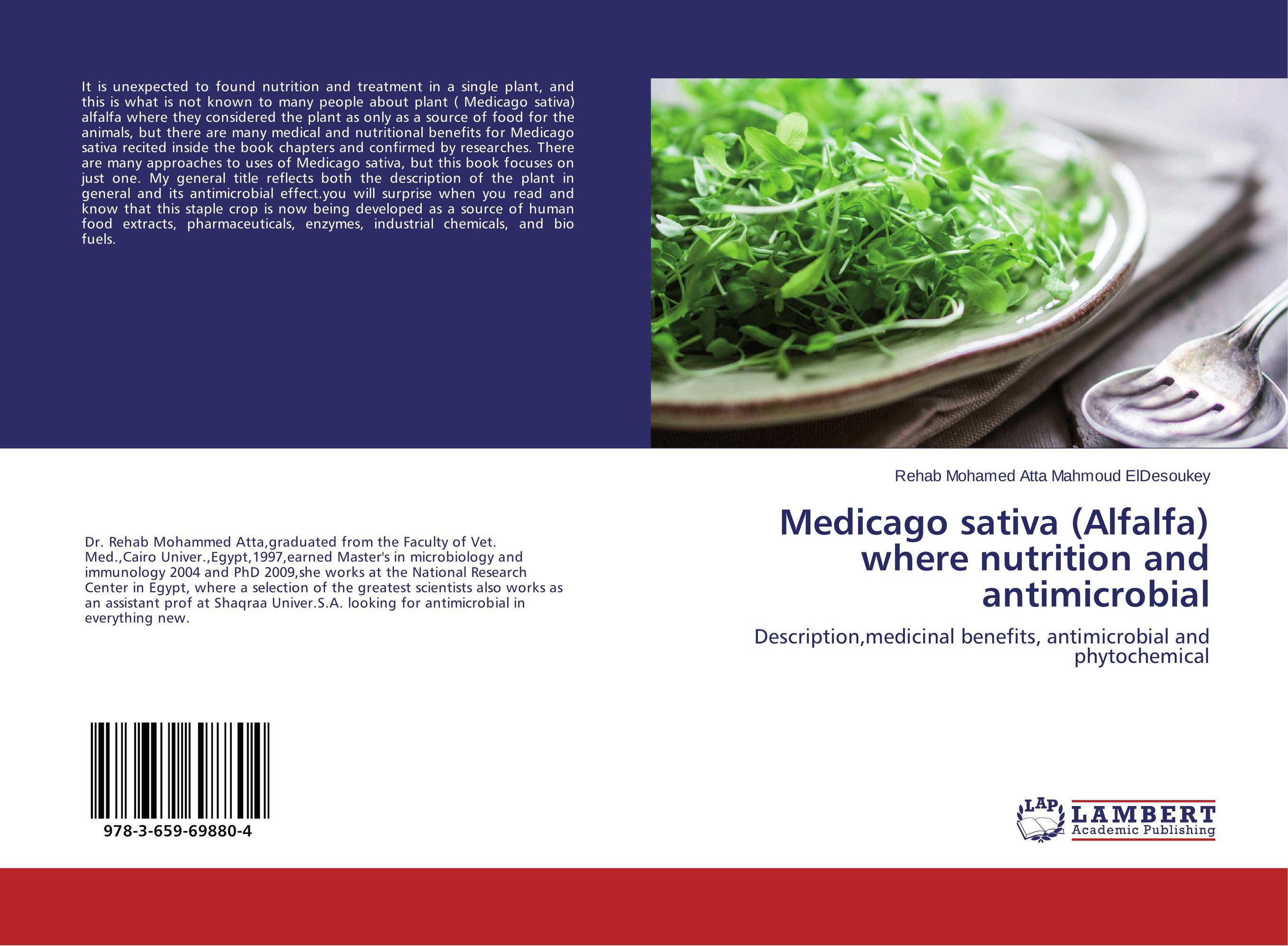Medicago sativa (Alfalfa) where nutrition and antimicrobial plant mineral nutrition