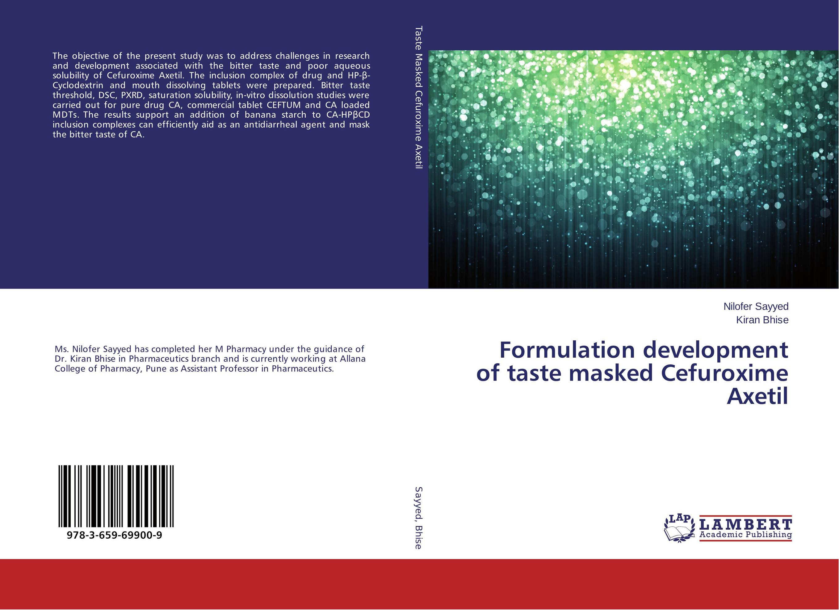 Formulation development of taste masked Cefuroxime Axetil alex avdeef absorption and drug development solubility permeability and charge state