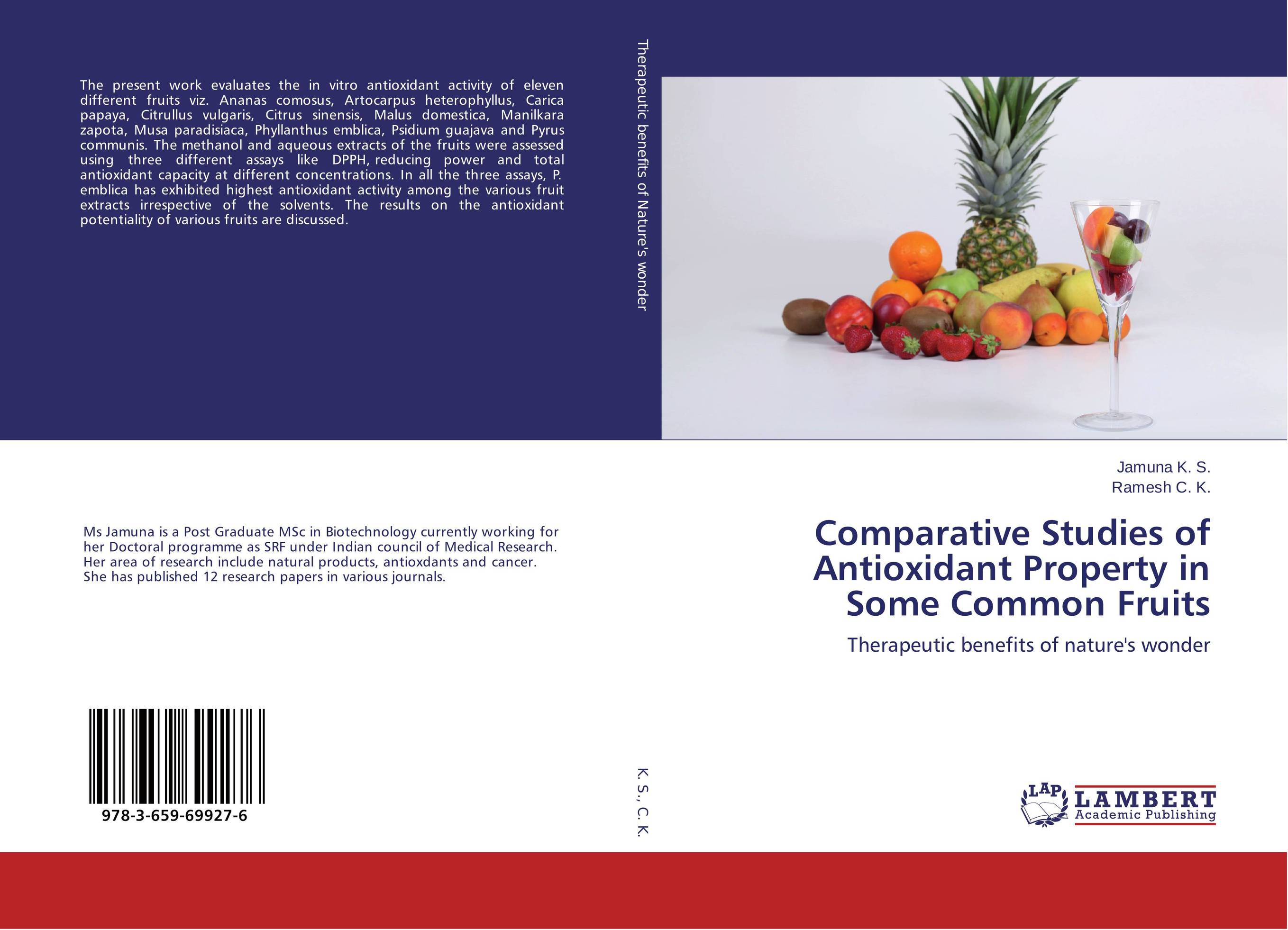 Comparative Studies of Antioxidant Property in Some Common Fruits studies on the antioxidant activity of indigofera hochstetteri baker