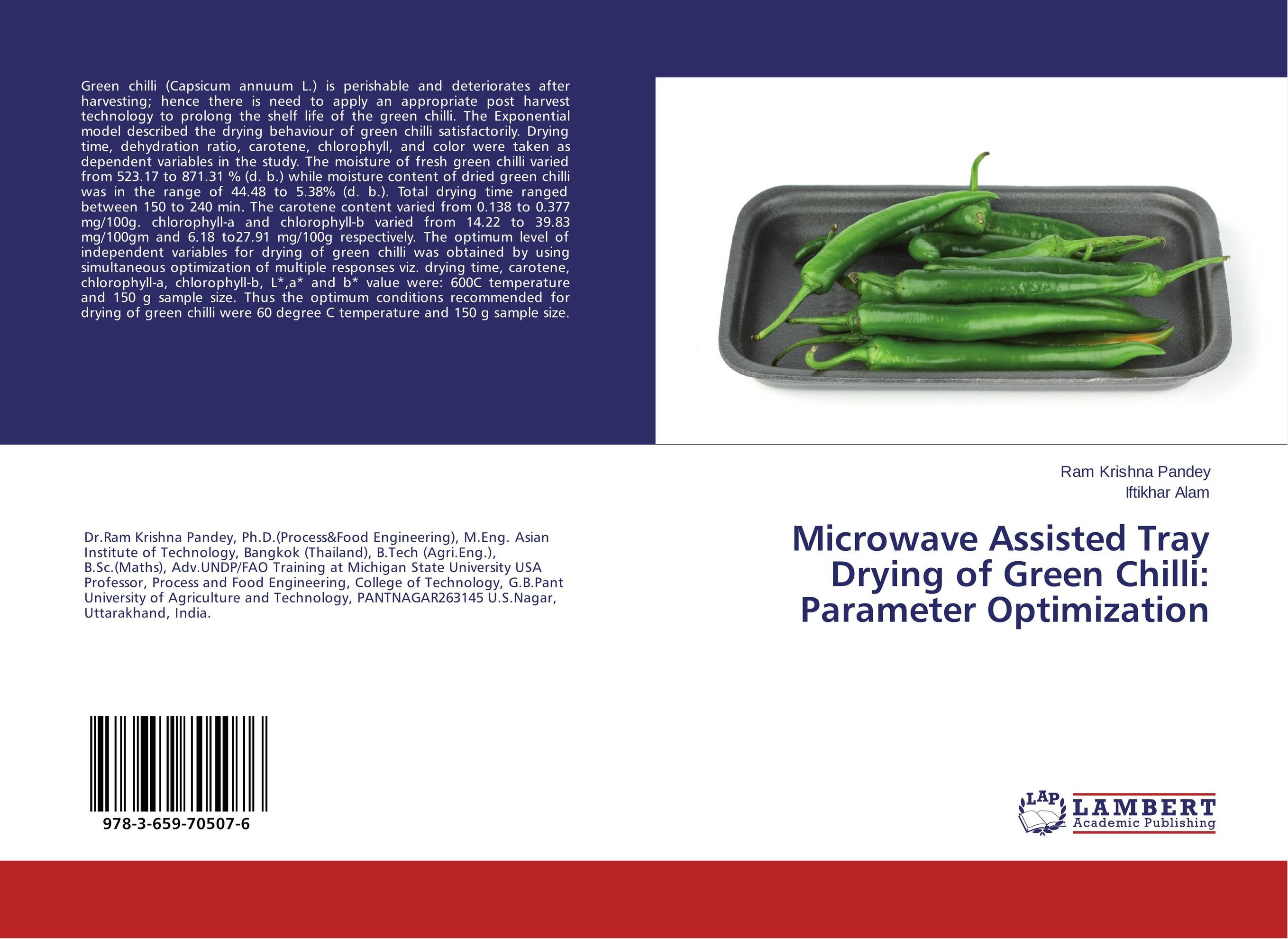 Microwave Assisted Tray Drying of Green Chilli: Parameter Optimization diallel analysis in chilli capsicum annuum l