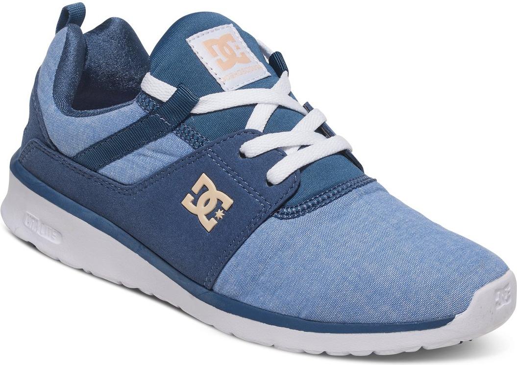Кроссовки женские DC Shoes Heathrow SE, цвет: синий. ADJS700022-NWH. Размер 7B (38)ADJS700022-NWHСтильные женские кроссовки DC Shoes Heathrow SE - отличный вариант на каждый день.Модель выполнена из текстиля. Шнуровка надежно фиксирует обувь на ноге. Резиновая подошва с протектором гарантирует отличное сцепление с поверхностью. В таких кроссовках вашим ногам будет комфортно и уютно.