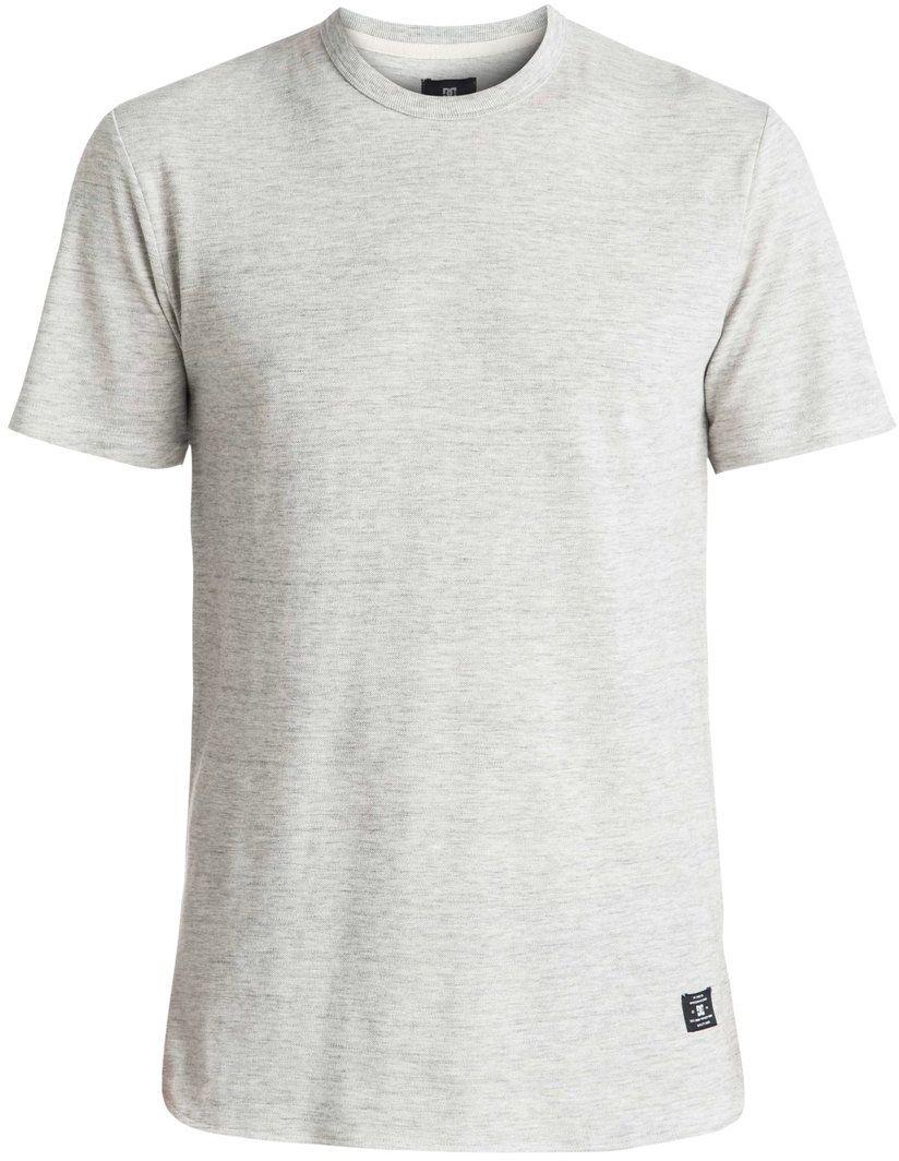 Футболка мужская DC Shoes, цвет: серый. EDYKT03319-SEYH. Размер XXL (54/56)EDYKT03319-SEYHМужская футболка DC Shoes выполнена из 100% натурального пикейного хлопка неровного плетения. Модель имеет круглый вырез горловины с отделкой эластичным материалом в рубчик и короткие рукава. Крой удлиненный, линия подола с небольшими треугольными вставками по бокам сзади слегка занижена.