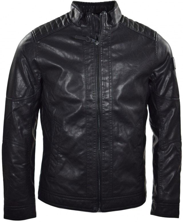 Куртка мужская Tom Tailor, цвет: черный. 3722211.00.10_2999. Размер M (48)3722211.00.10_2999Стильная мужская куртка Tom Tailor выполнена из высококачественной искусственной кожи с подкладкой из полиэстера. Куртка поможет вам почувствовать себя максимально комфортно и стильно. Модель с длинными рукавами и воротником-стойкой застегивается на металлическую застежку-молнию. Куртка дополнена двумя прорезными карманами. Модный дизайн и практичность - отличный выбор на каждый день!