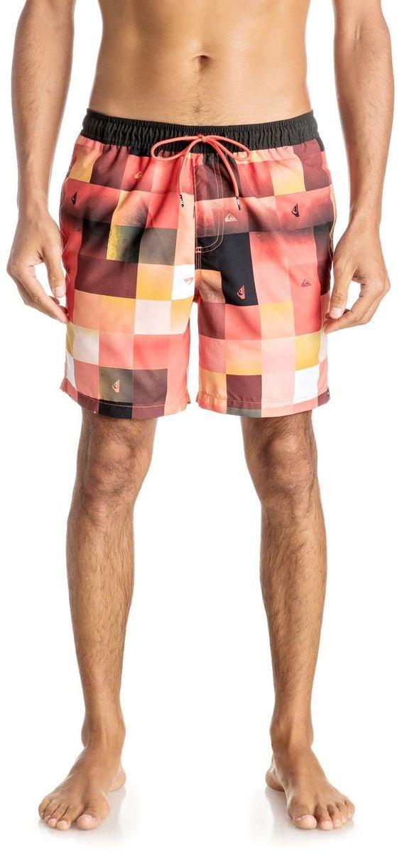 Шорты мужские Quiksilver, цвет: оранжевый. EQYJV03196-MKM6. Размер XL (54)EQYJV03196-MKM6Шорты мужские Quiksilver изготовлены из качественного полиэстера. Модель длиной выше колен выполнена с резинкой и утягивающим шнурком на талии. Изделие дополнено карманами.