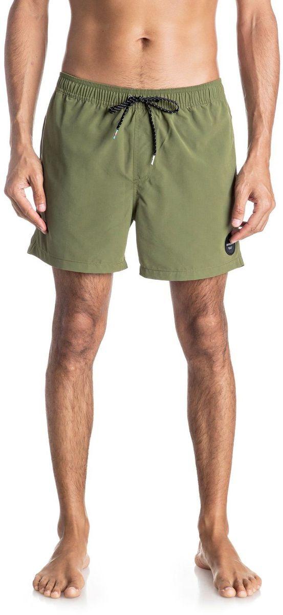 Шорты мужские Quiksilver, цвет: зеленый. EQYJV03200-GPH0. Размер XL (54)EQYJV03200-GPH0Шорты мужские Quiksilver изготовлены из качественного полиэстера. Модель длиной выше колен выполнена с резинкой и утягивающим шнурком на талии. Изделие дополнено карманами.