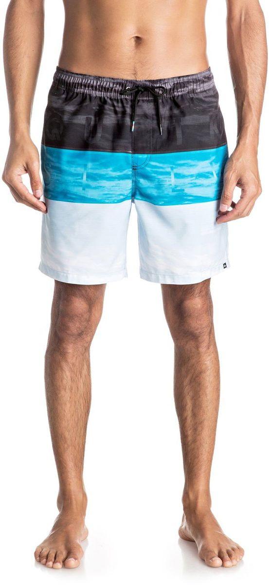 Шорты мужские Quiksilver, цвет: серый, голубой, белый. EQYJV03203-BMS6. Размер M (48/50)EQYJV03203-BMS6Шорты мужские Quiksilver изготовлены из качественной ткани. Модель длиной до колен затягивается на талии на шнурок-утяжку. Изделие выполнено в ярких цветах.