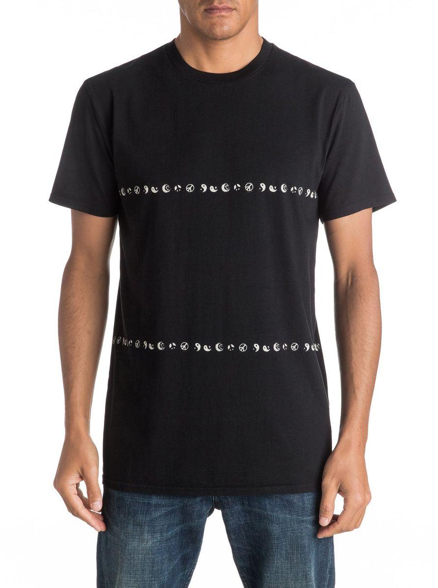 Футболка мужская Quiksilver, цвет: черный. EQYKT03527-KVJ0. Размер XL (52/54)EQYKT03527-KVJ0Мужская футболка Quiksilver изготовлена из качественного материала. Модель выполнена с круглой горловиной и короткими рукавами.